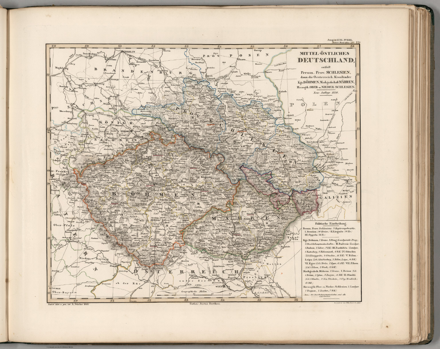 Map Of Central Germany.Mittel Ostliches Deutschland East Central Germany David Rumsey