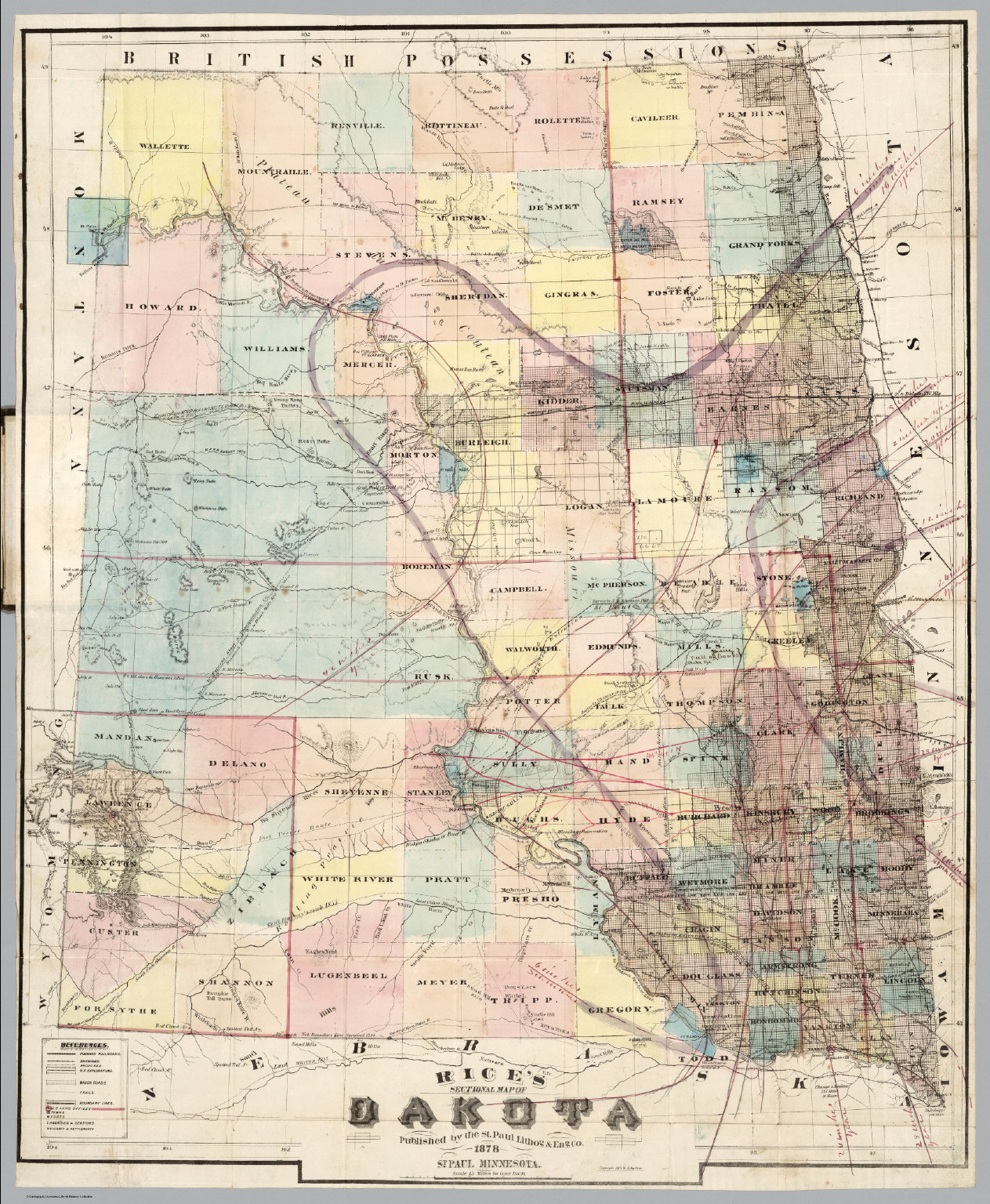 Sectional Map Of Dakota