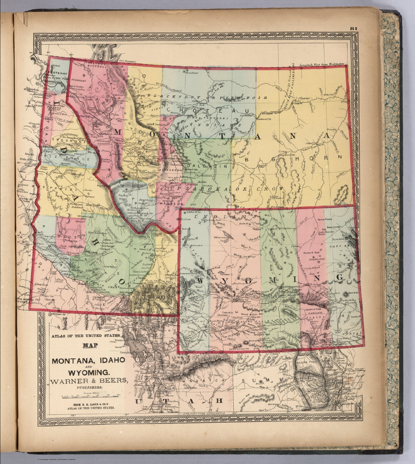 Montana Idaho And Wyoming David Rumsey Historical Map Collection