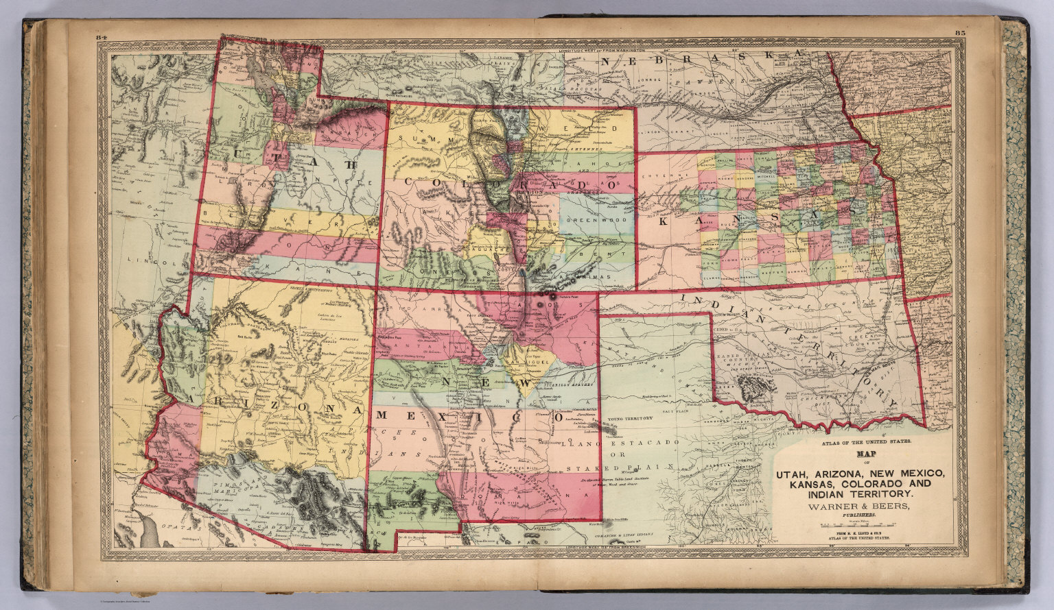 Utah, Arizona, New Mexico, Kansas, Colorado, and Indian Territory ...