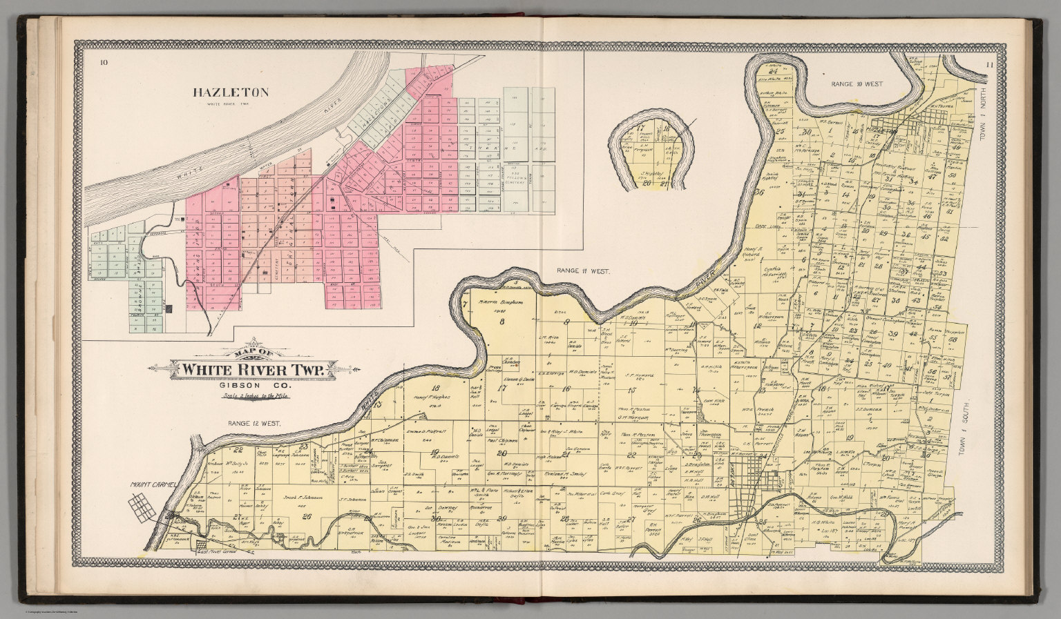 Gibson County Indiana Map.White River Township Gibson County Indiana Hazleton David
