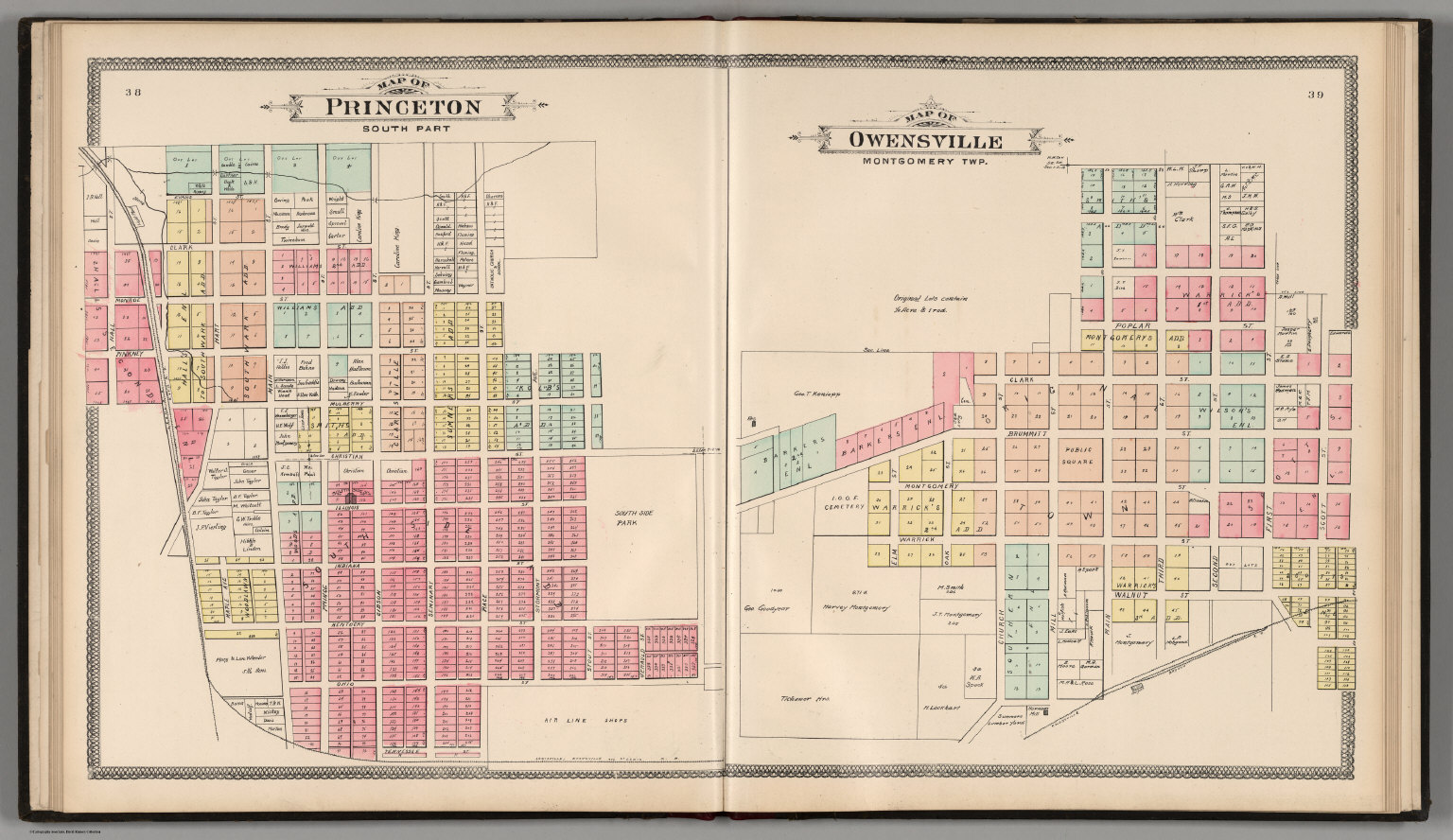Gibson County Indiana Map.Princeton South Part Map Of Owensville Montgomery Township
