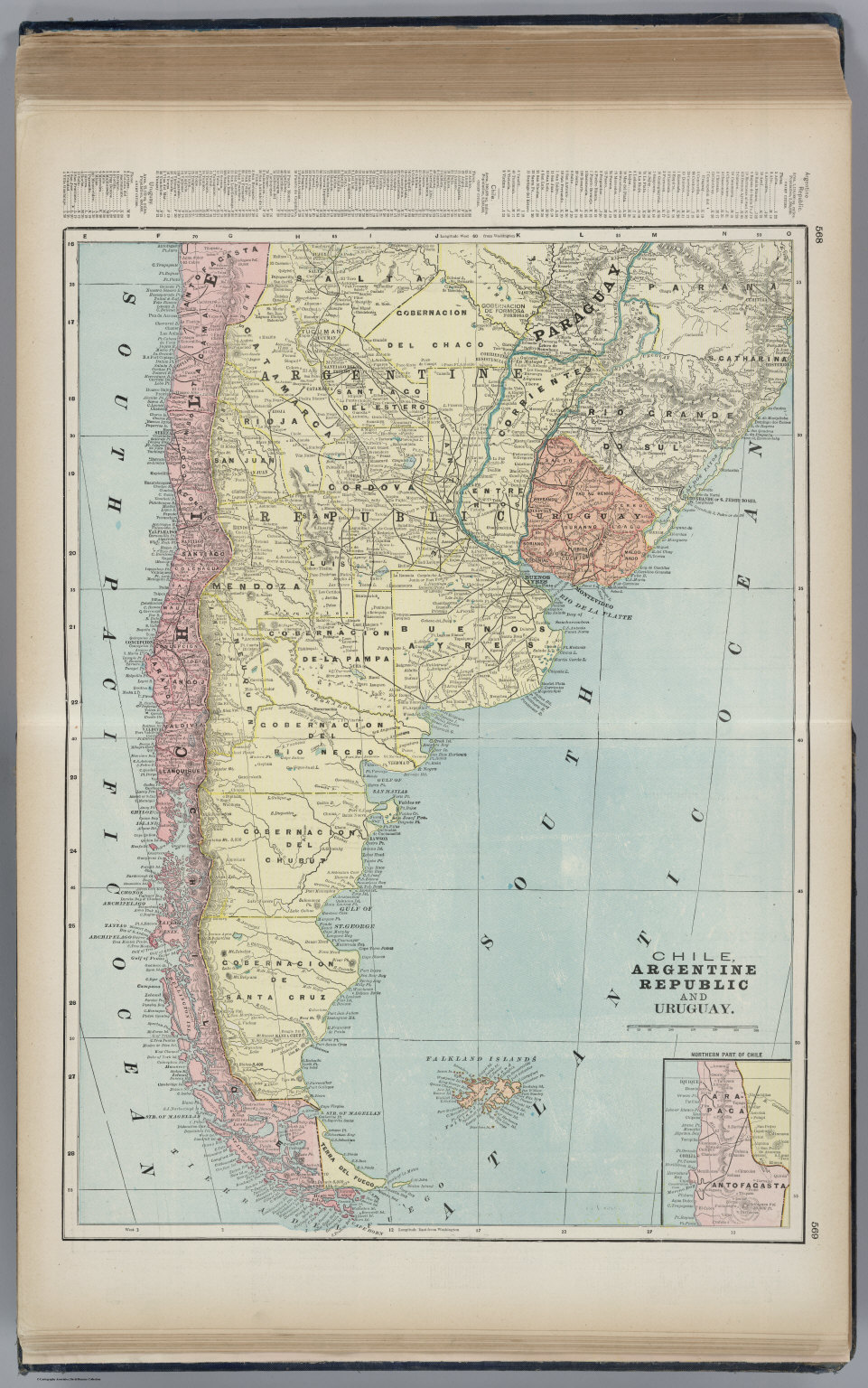 Chile argentine republic and uruguay david rumsey historical map chile argentine republic and uruguay gumiabroncs Gallery