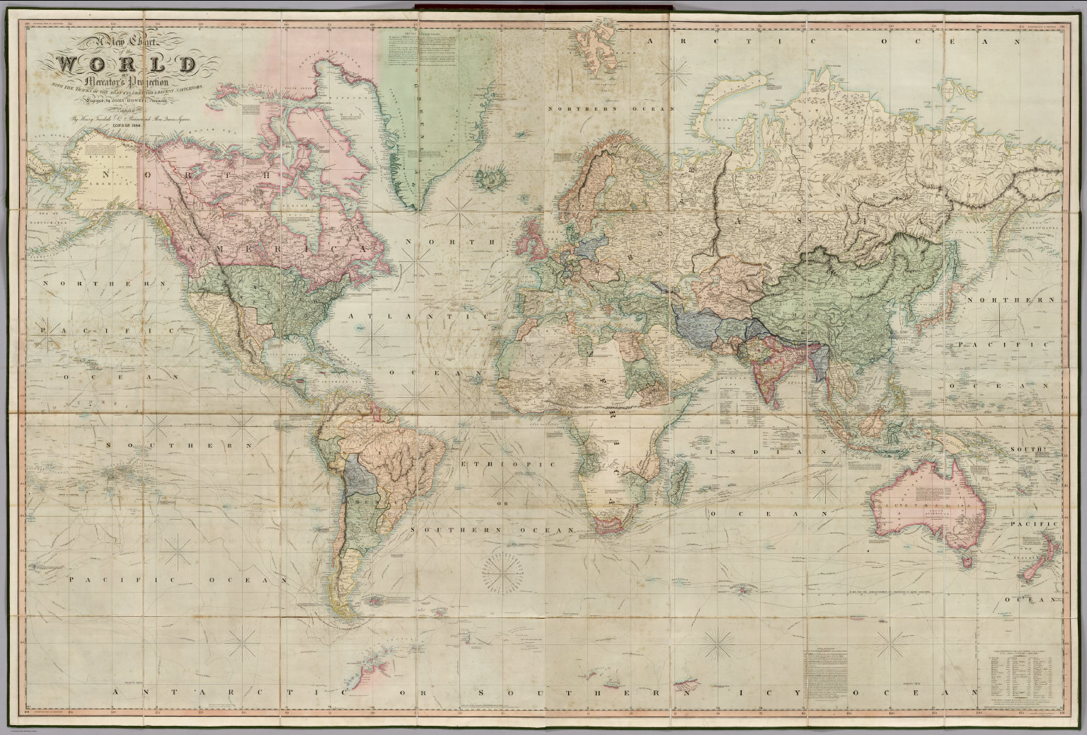 Chart Of The World On Mercator S Projection David Rumsey
