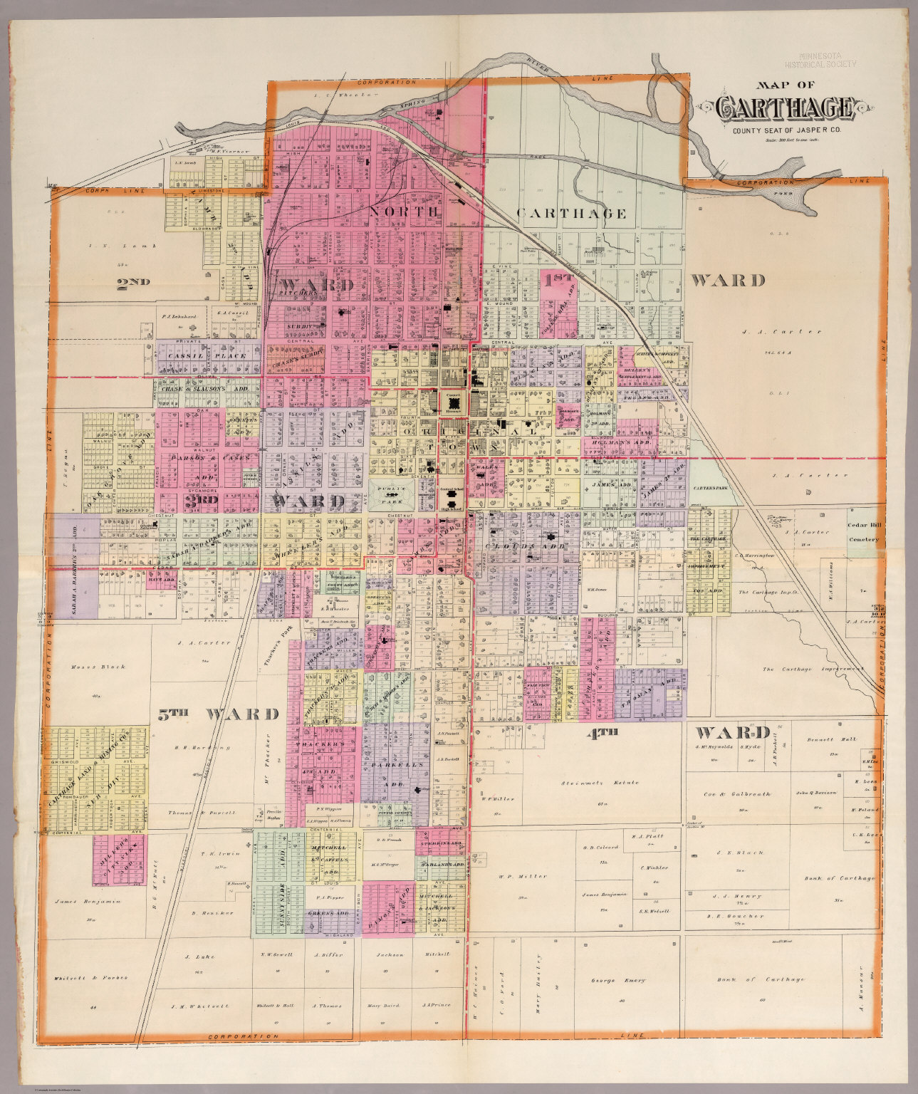 Carthage Missouri David Rumsey Historical Map Collection