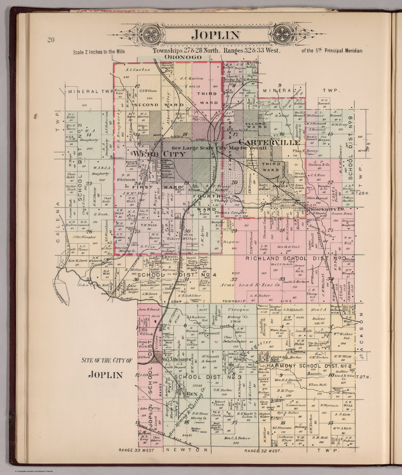 Plat of Joplin Missouri David Rumsey Historical Map Collection