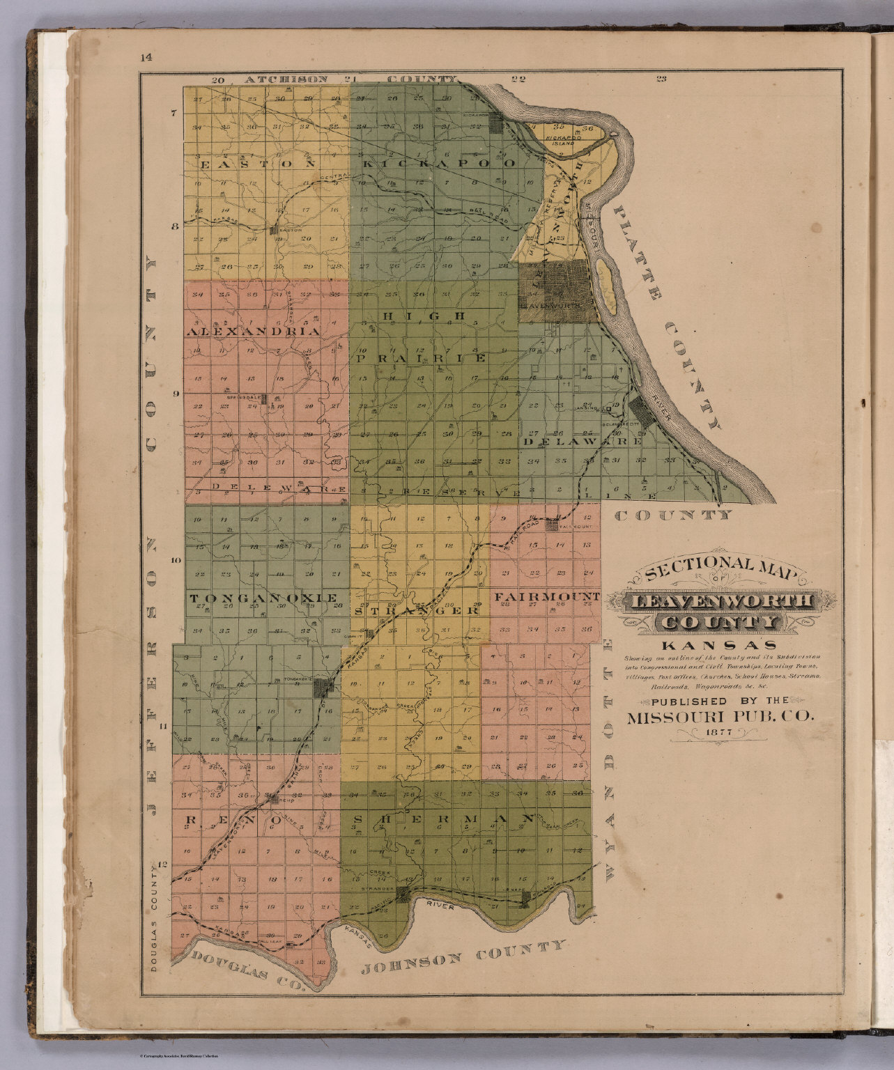 Sectional Map of Leavenworth County, Kansas. - David Rumsey ...