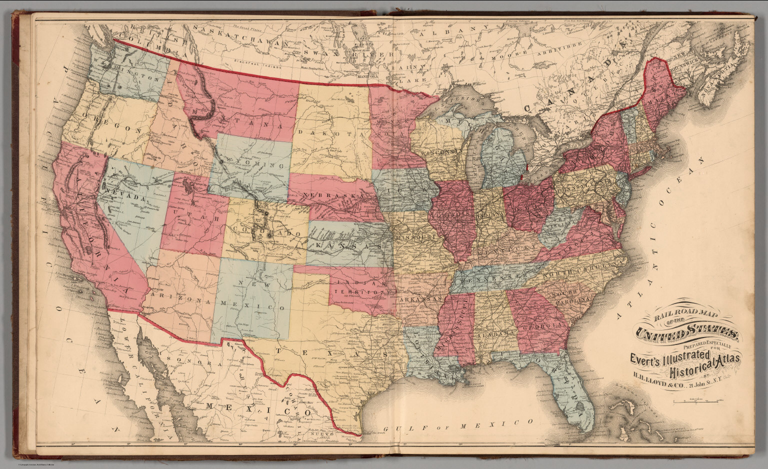 Railroad Map of the United States. - David Rumsey Historical Map ...