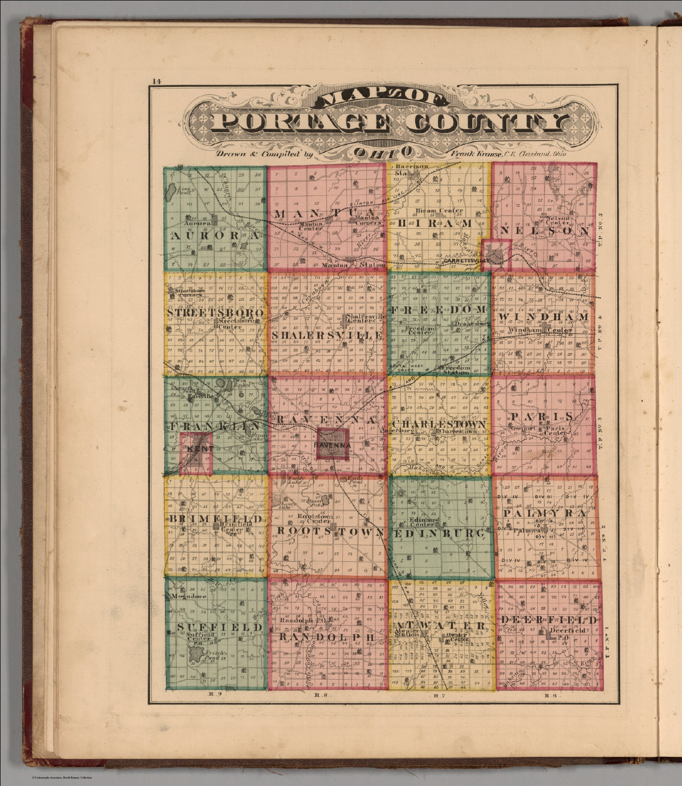 Portage County Ohio David Rumsey Historical Map Collection