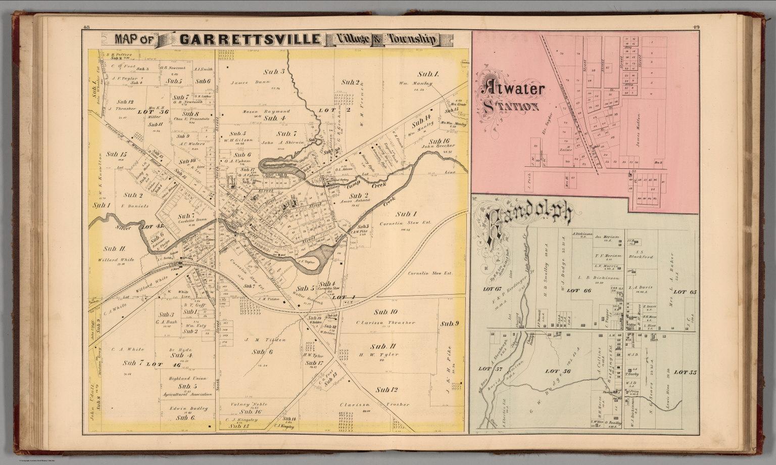 Atwater Ohio Map.Garrettsville Village Township Atwater Station Randolf Portage