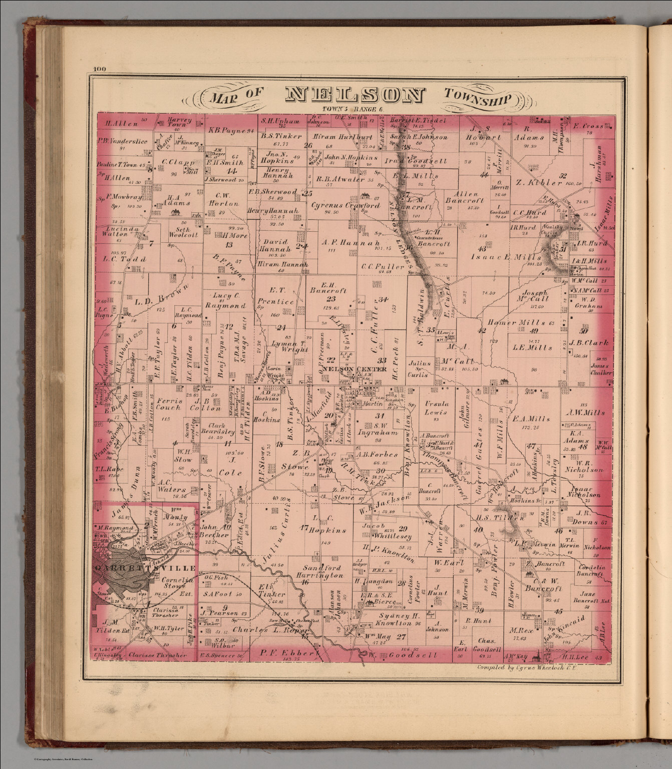 Nelson Township Portage County Ohio David Rumsey Historical Map