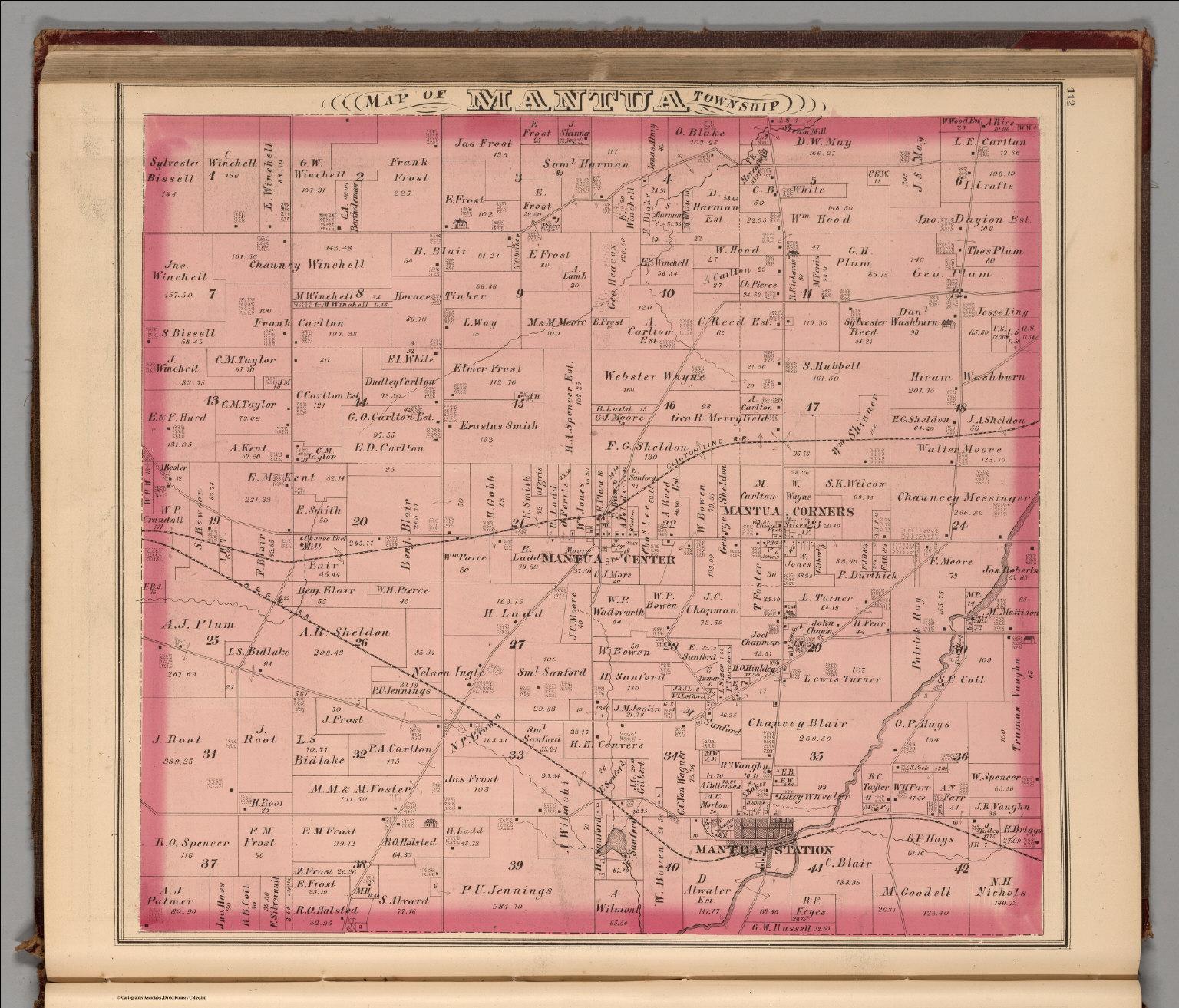Mantua Township Portage County Ohio David Rumsey Historical Map