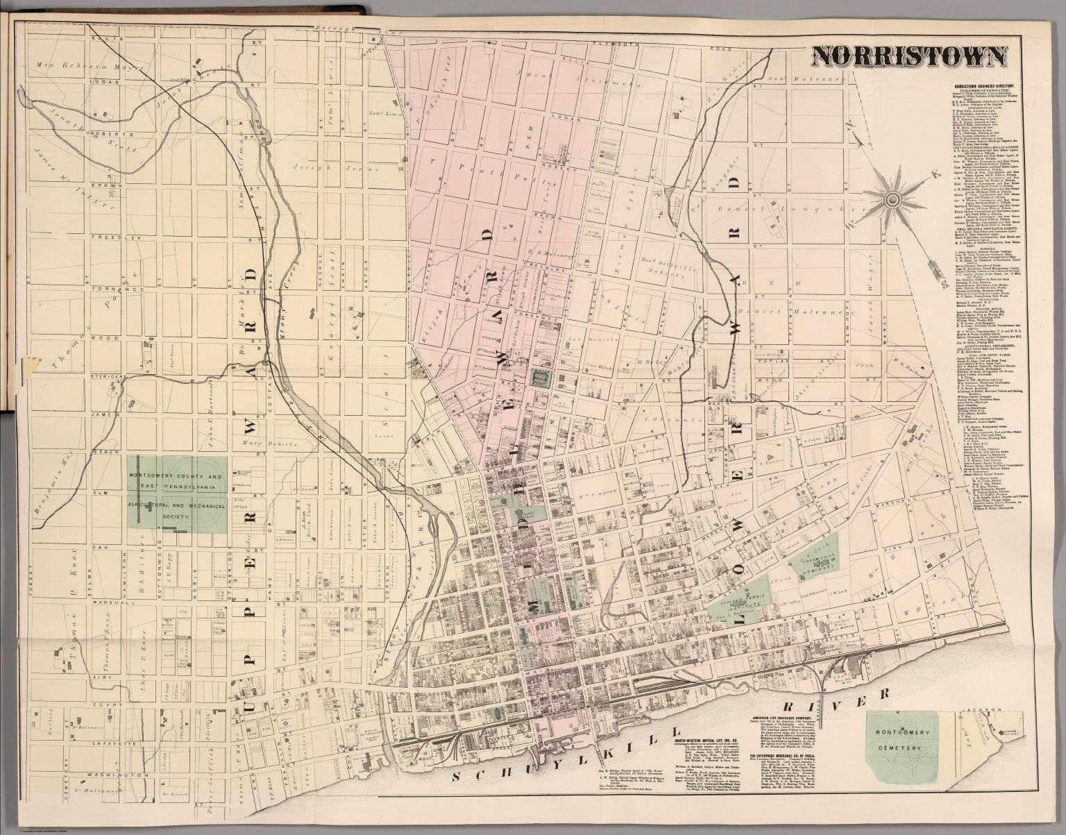 Norristown Montgomery County Pennsylvania David Rumsey