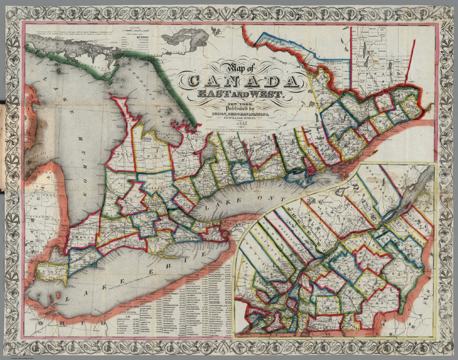 Buy Map Of Canada.Canada East And West David Rumsey Historical Map Collection