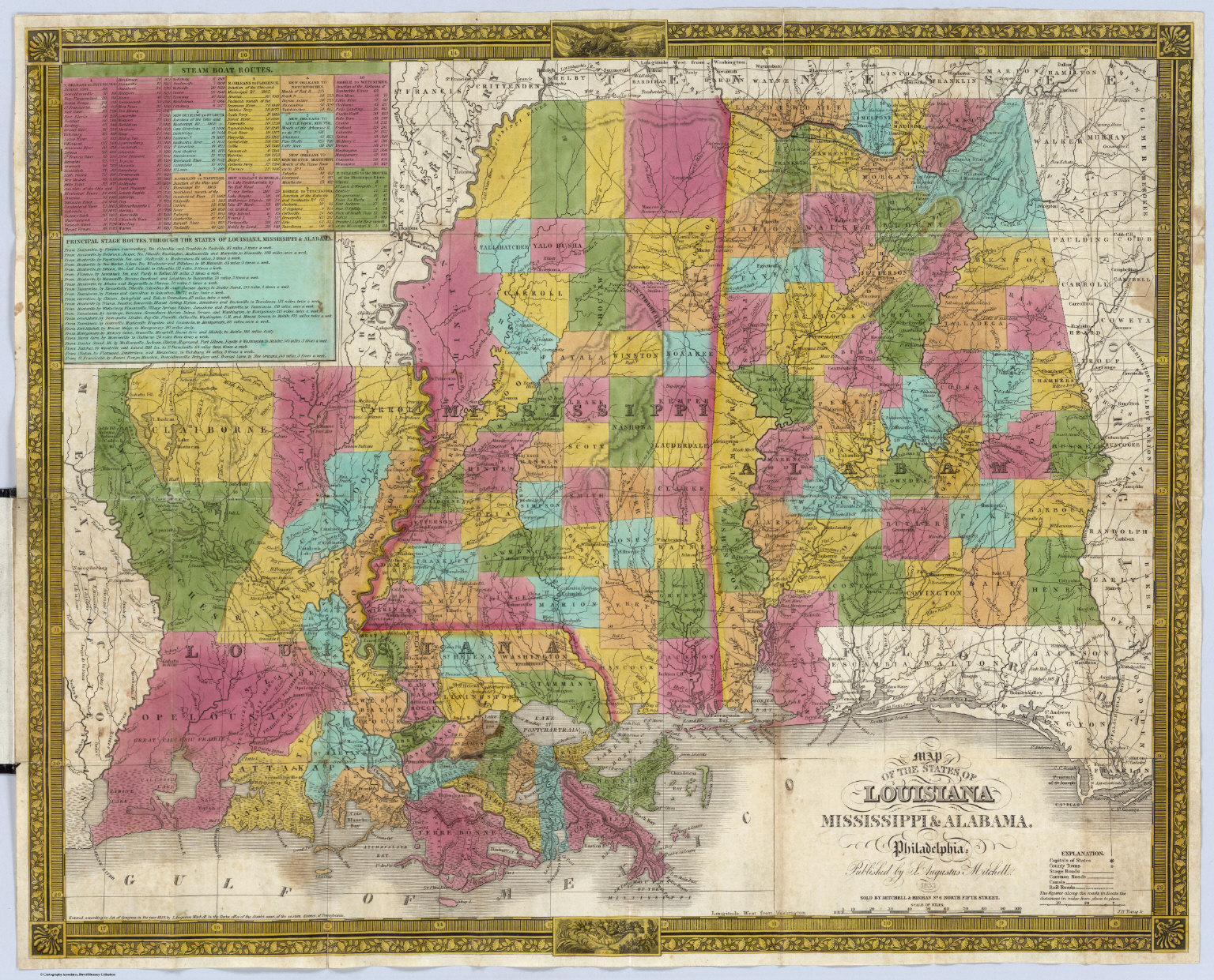Louisiana Mississippi Alabama David Rumsey Historical Map Collection