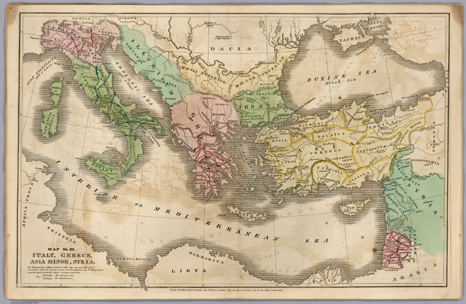 Map No. III. Italy, Greece, Asia Minor, Syria - David Rumsey ...