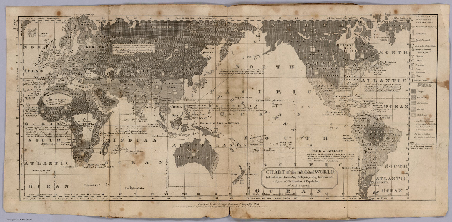 Chart of the inhabited world david rumsey historical map collection georeference this map buy print export gumiabroncs Image collections