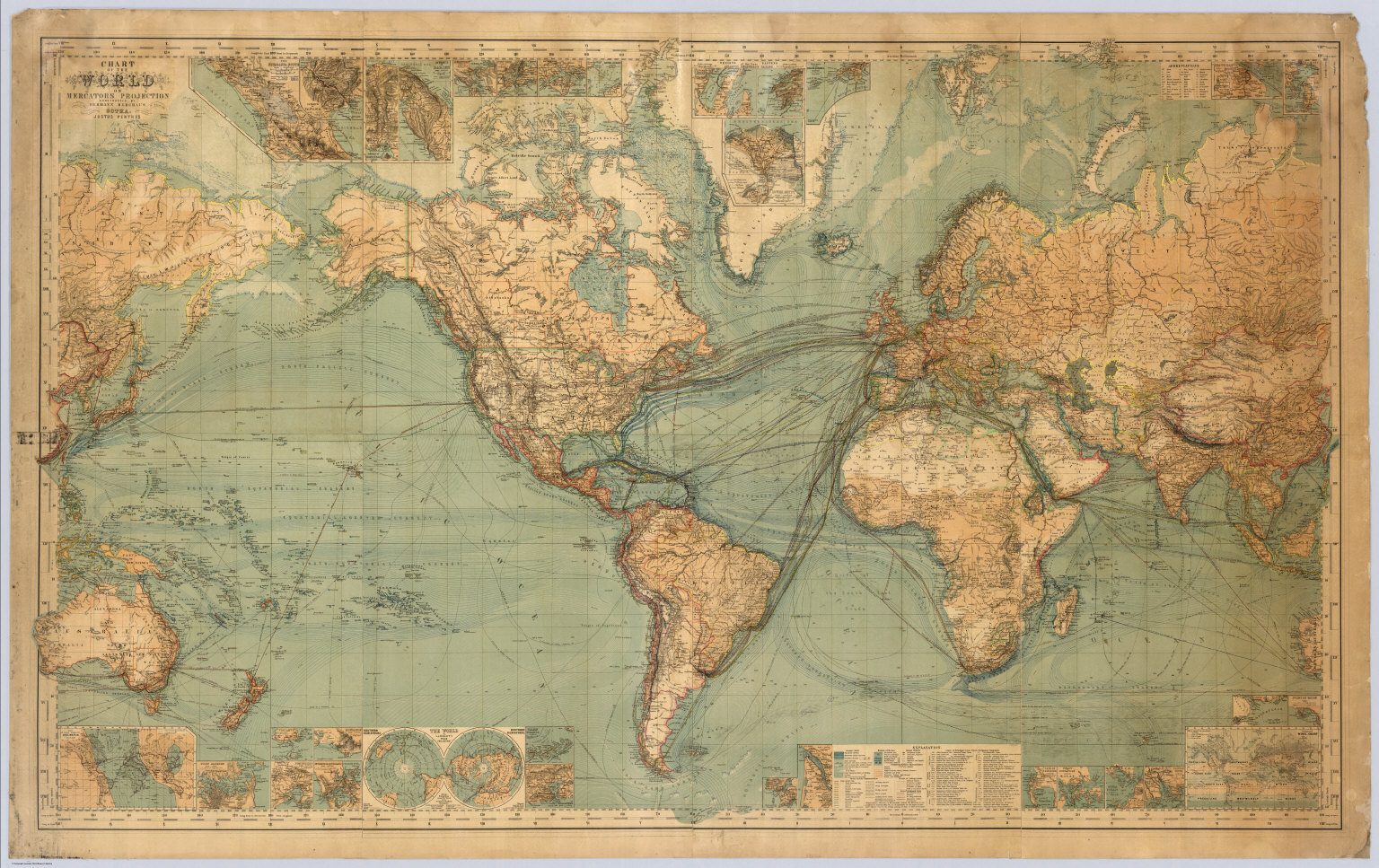 World on mercators projection david rumsey historical map collection world on mercators projection gumiabroncs Choice Image