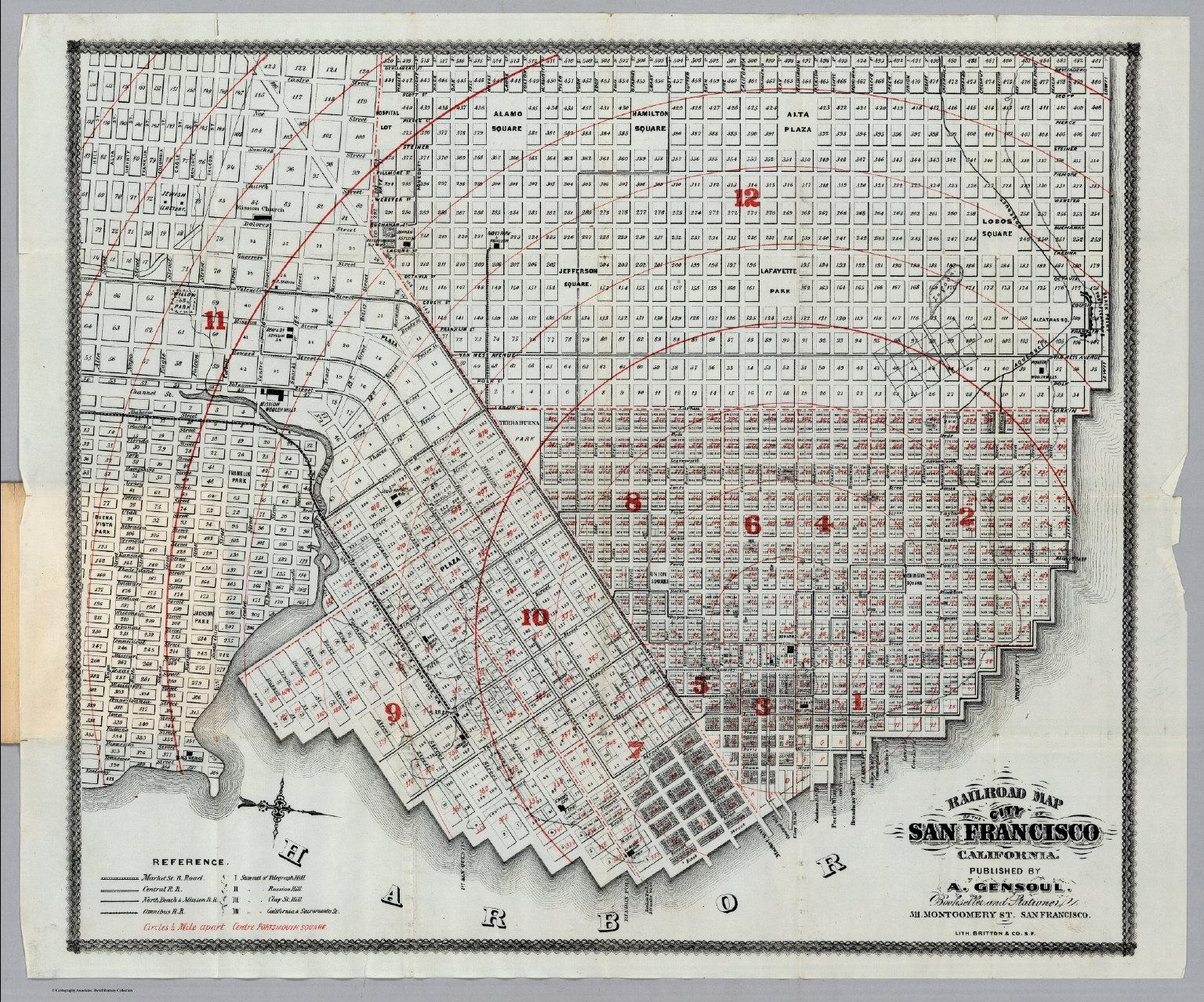 san francisco map 1900 City Of San Francisco California David Rumsey Historical Map
