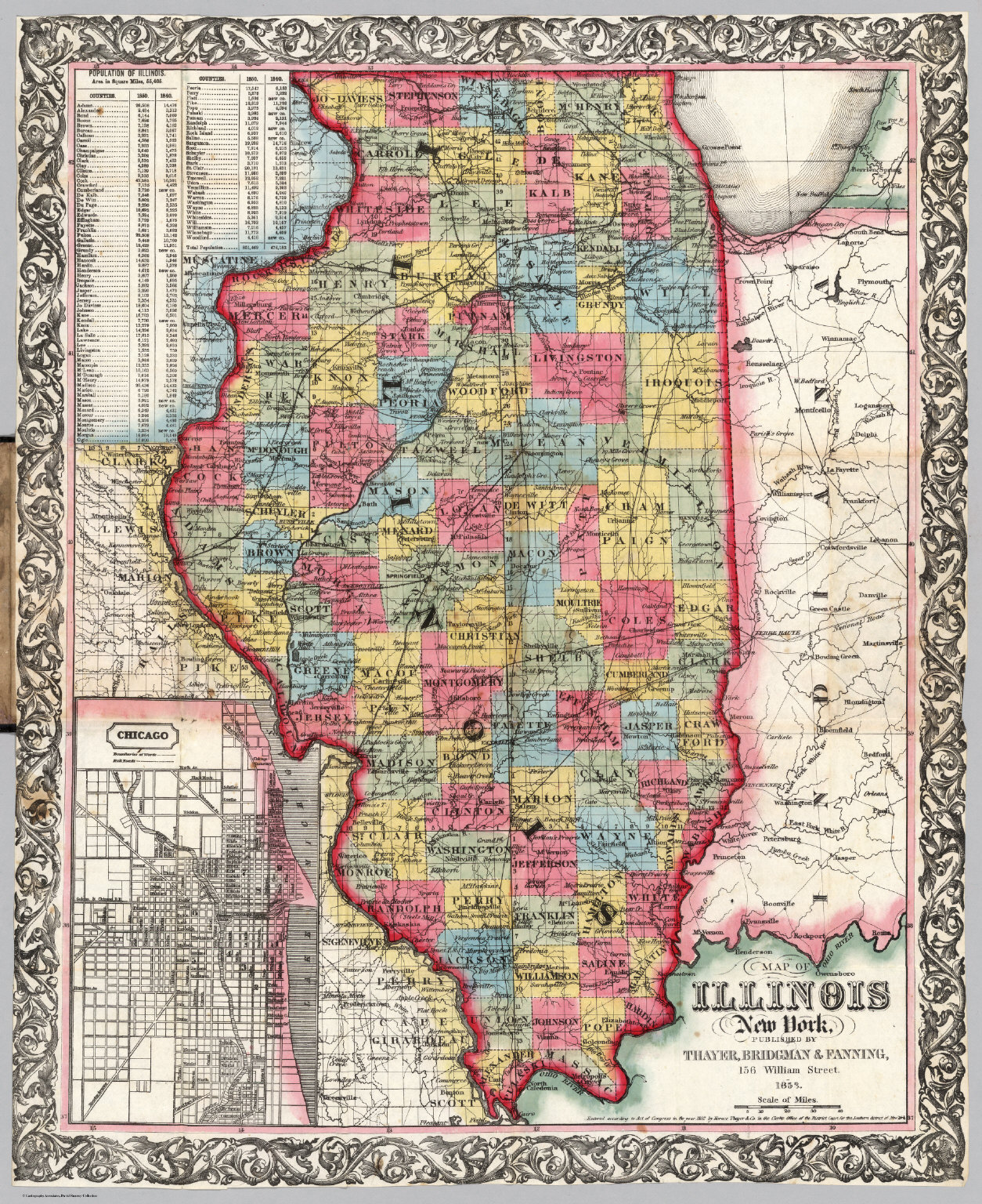 Map of Illinois - David Rumsey Historical Map Collection