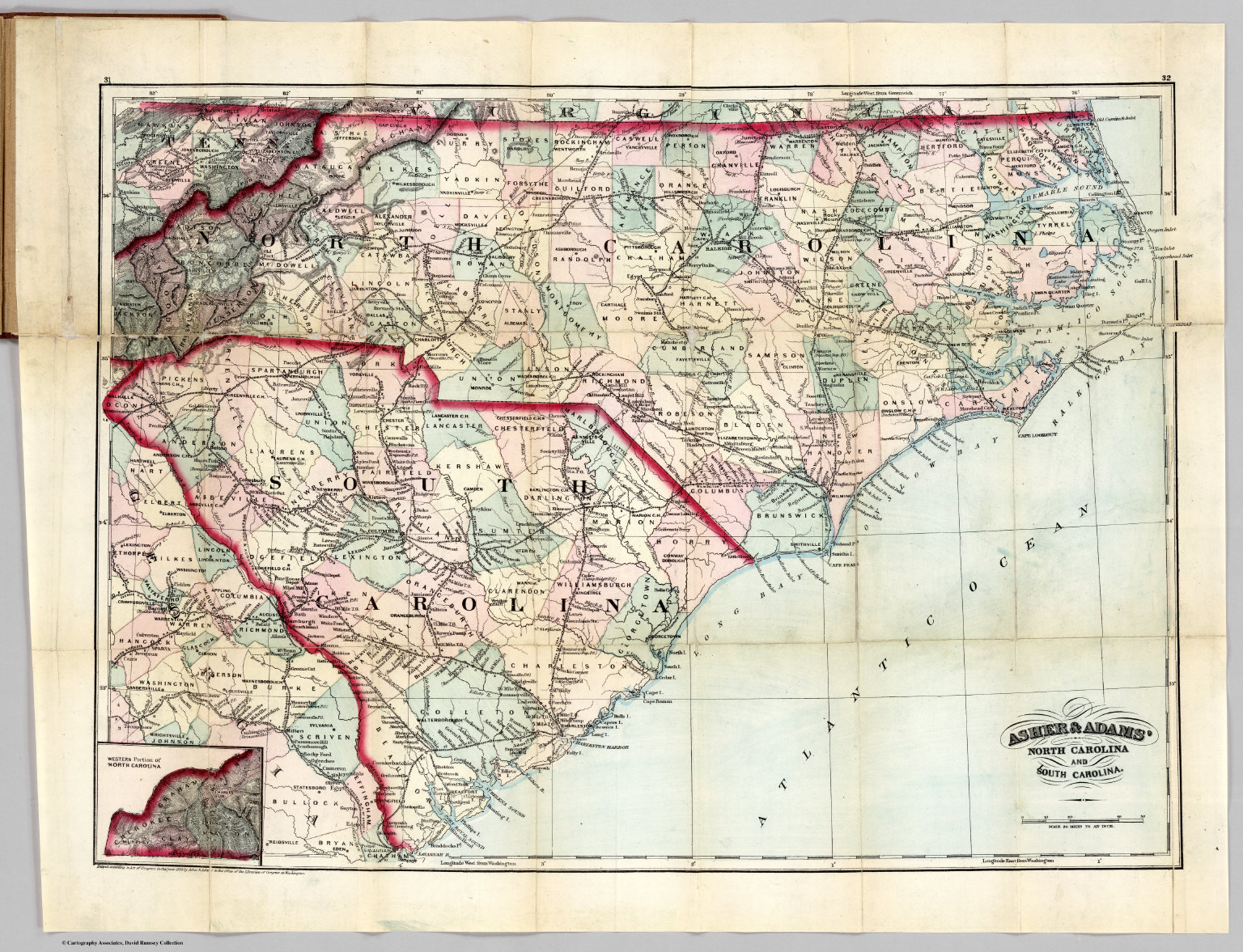 Guide Of North Carolina And South Carolina - David Rumsey Historical ...