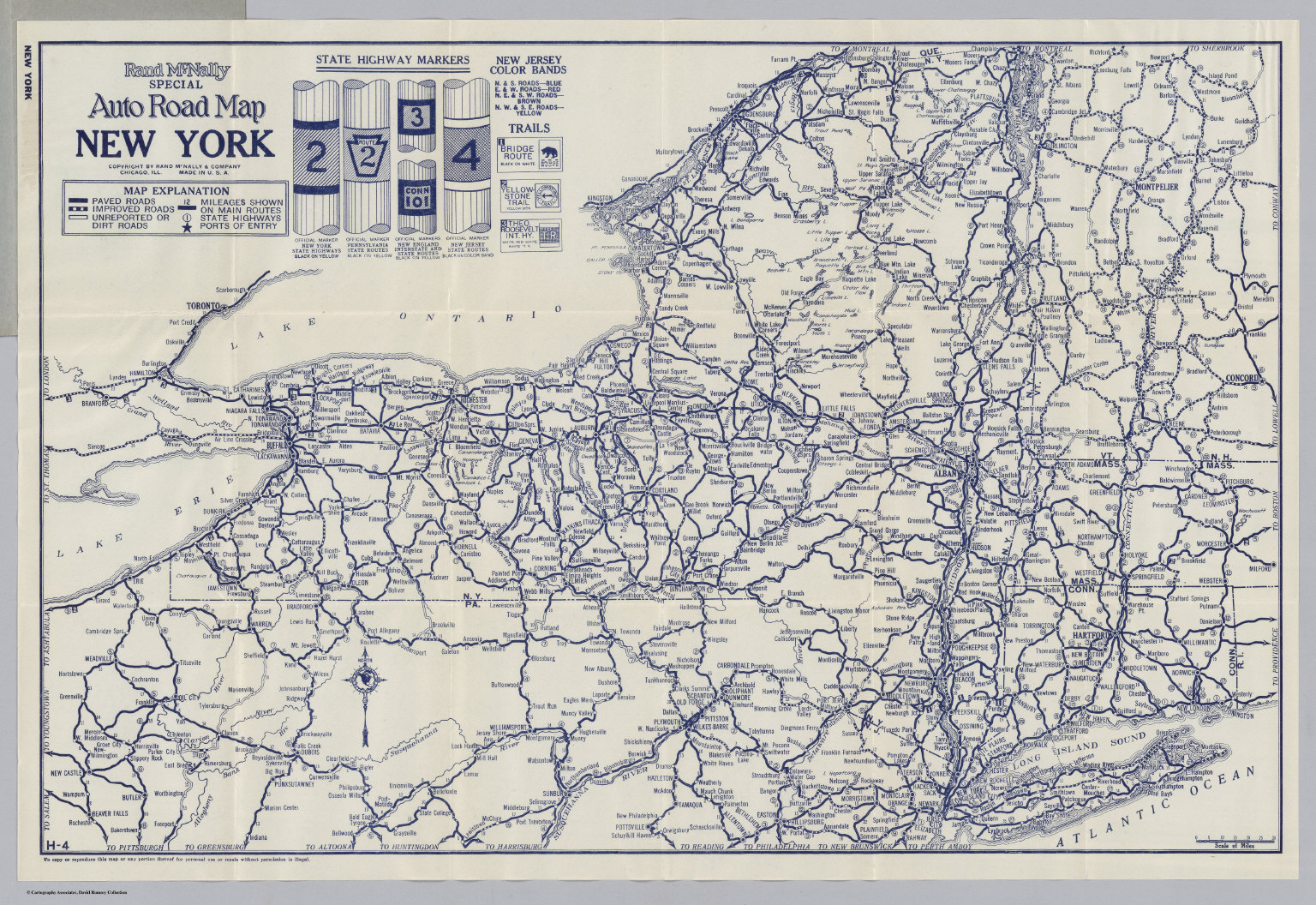 Auto Road Map New York David Rumsey Historical Map Collection
