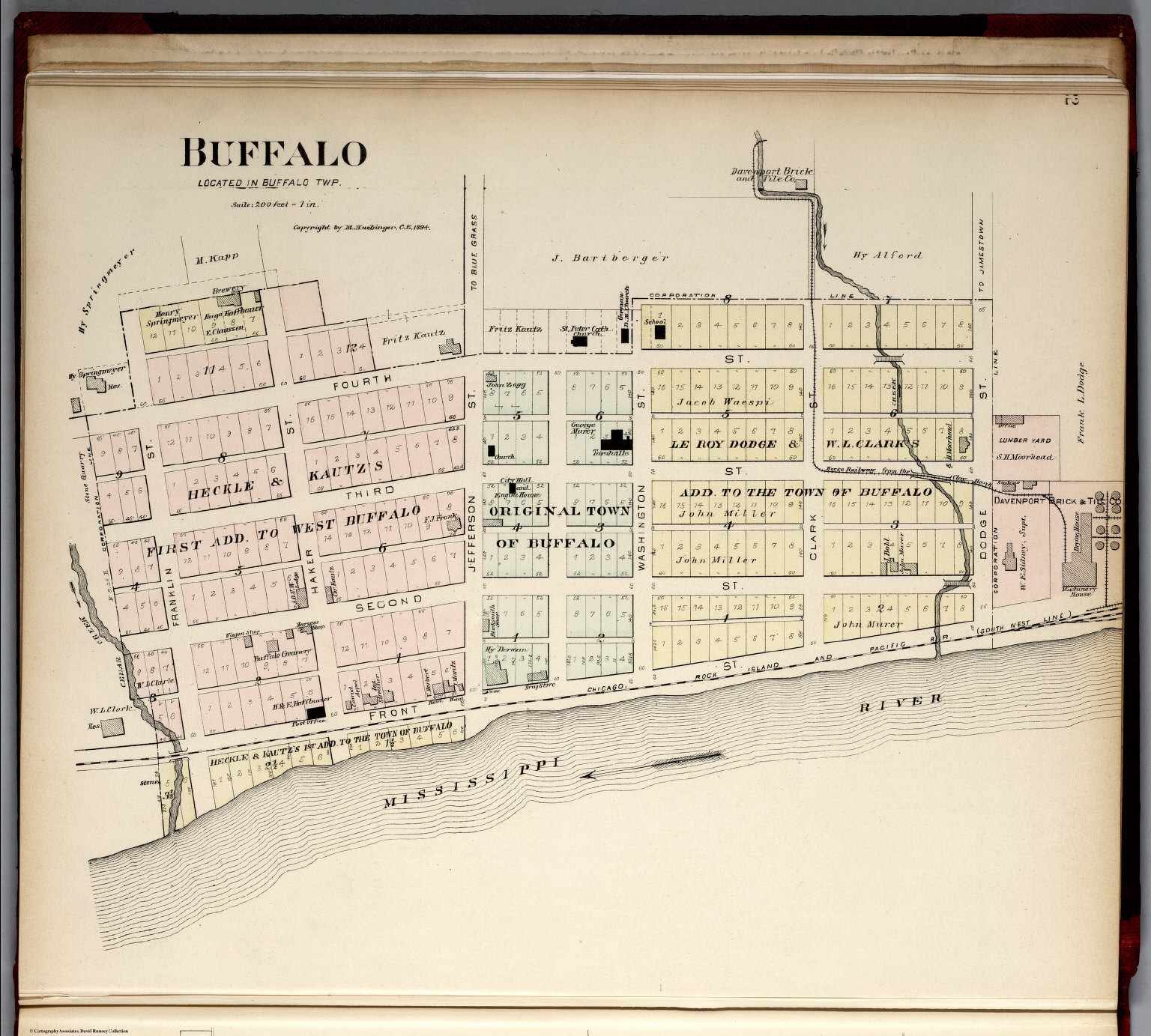 Buffalo (Iowa).   David Rumsey Historical Map Collection