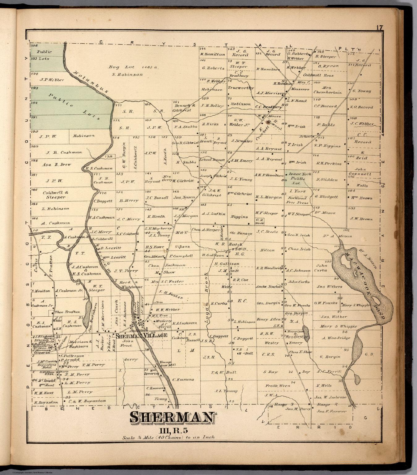 Sherman Iii R 5 Aroostook County Maine David Rumsey Historical