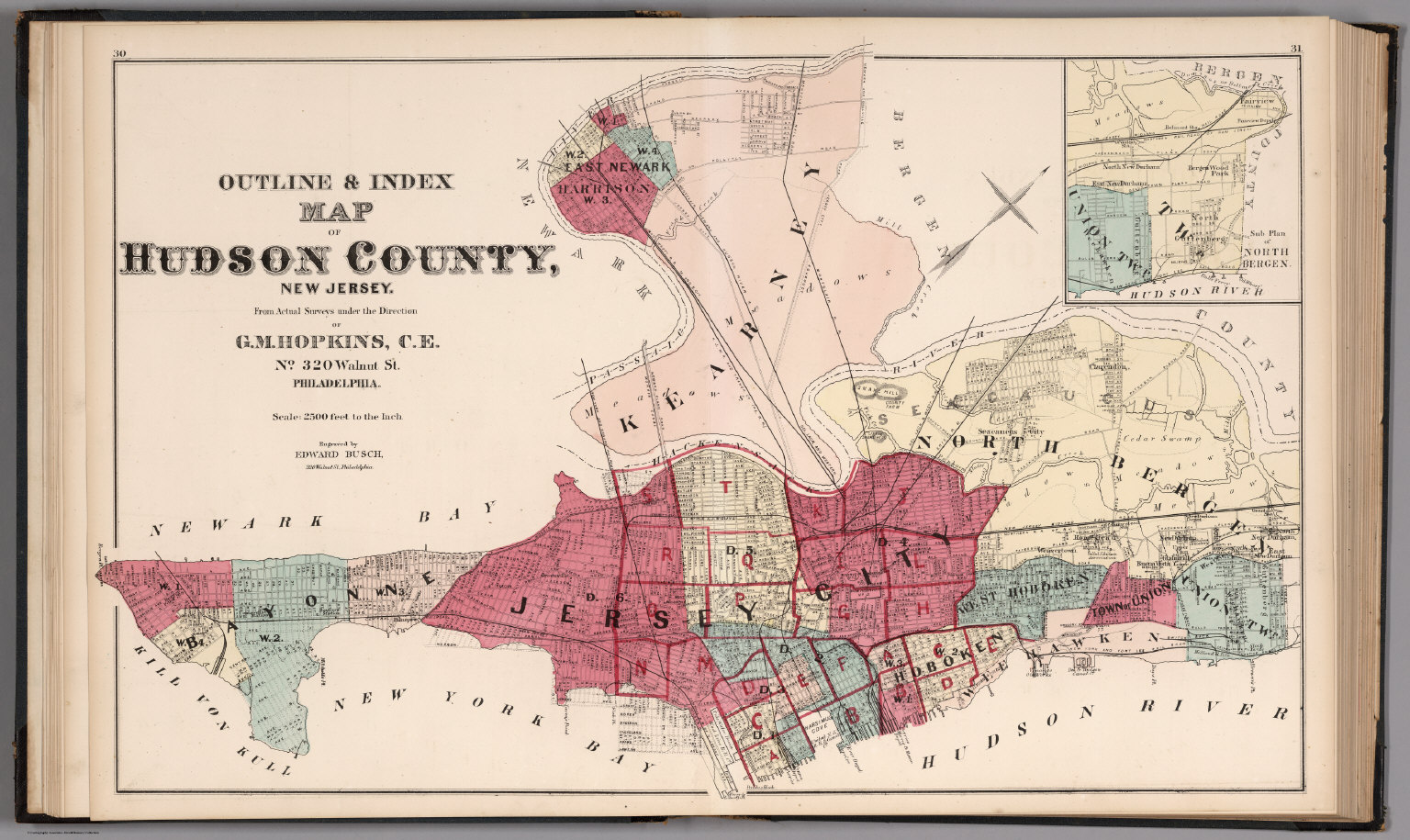 Outline and Index Map Hudson County, New Jersey. - David Rumsey ...