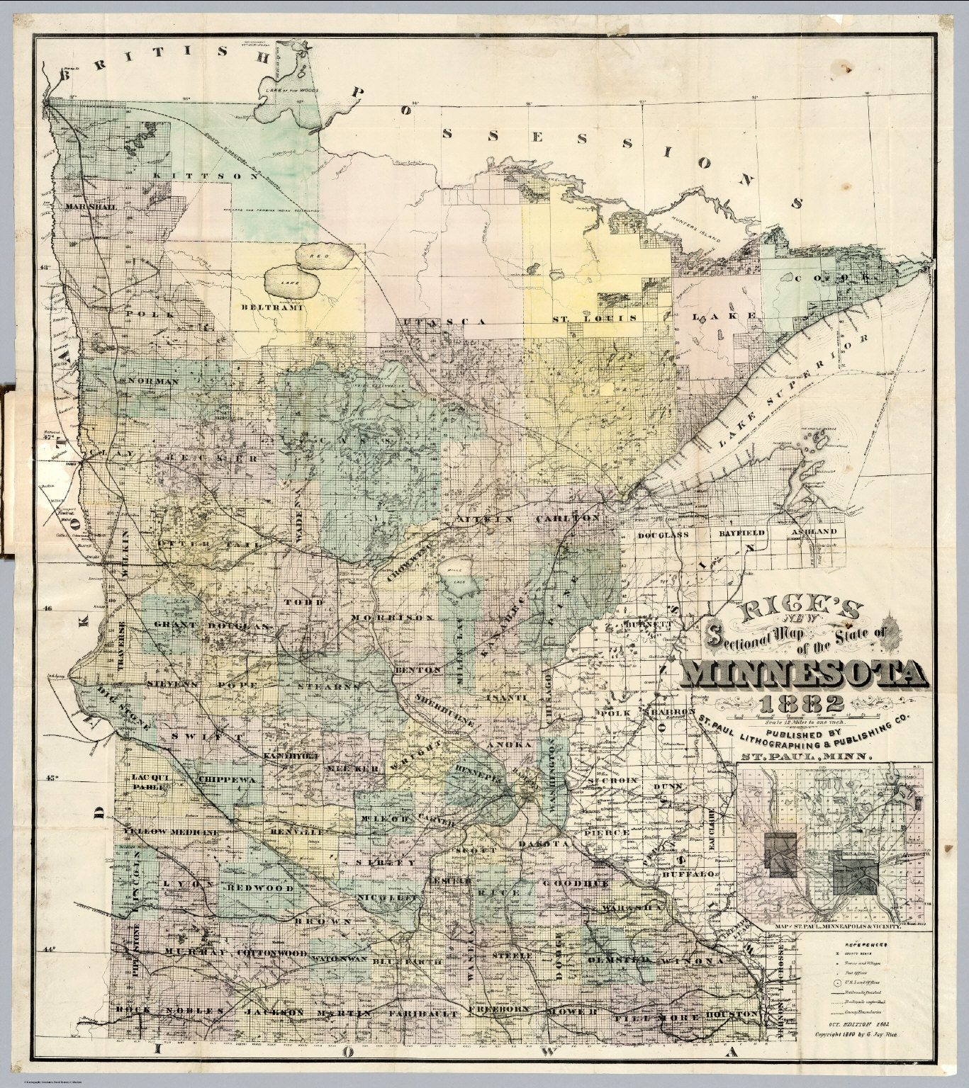 Map of the State of Minnesota David Rumsey Historical Map Collection