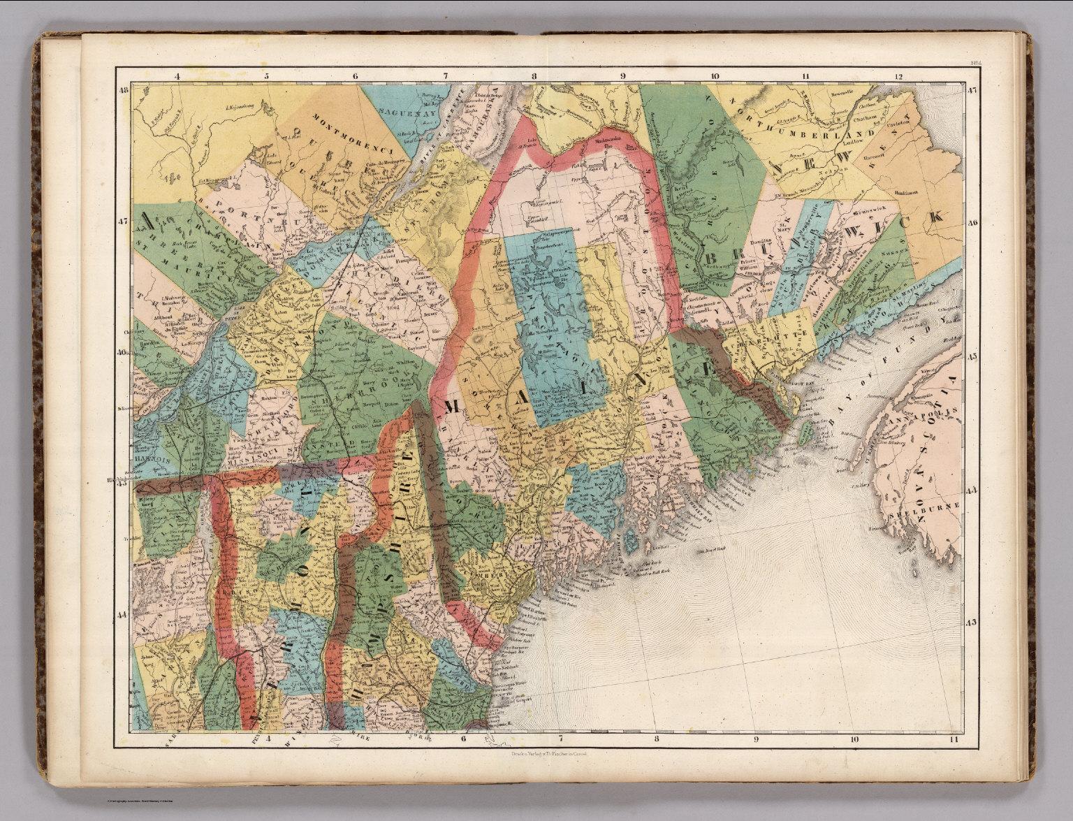 Quebec, New Brunswick, Maine, Vermont, New Hampshire. - David Rumsey ...