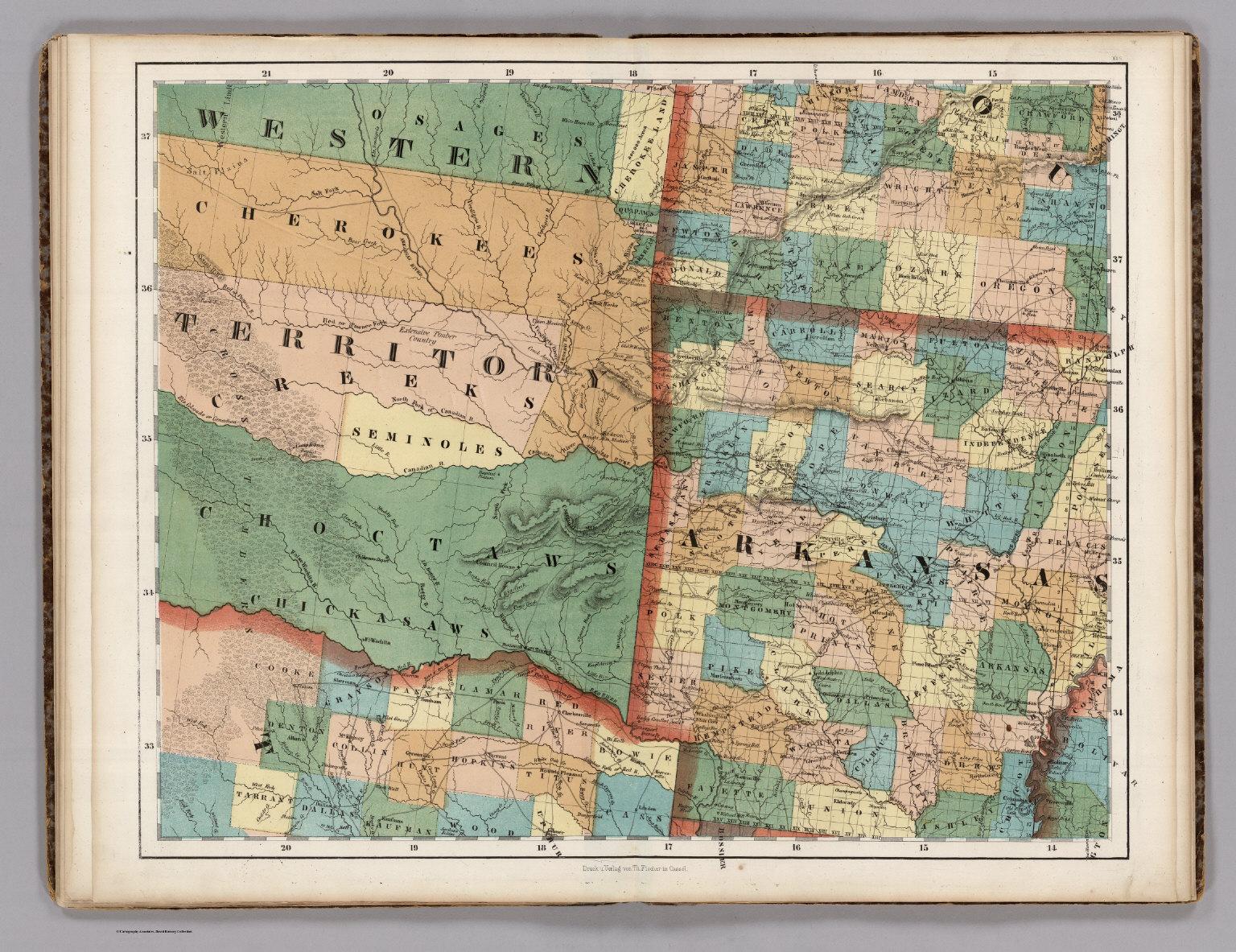 Arkansas Oklahoma Texas David Rumsey Historical Map Collection