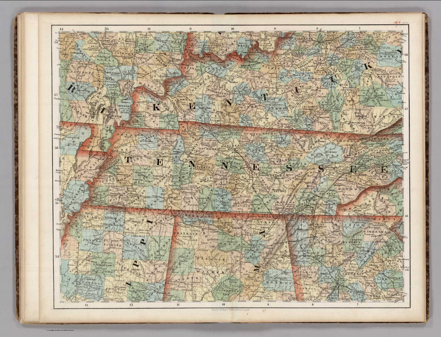 Map Of Alabama And Tennessee Kentucky, Tennessee, Mississippi, Alabama.   David Rumsey  Map Of Alabama And Tennessee