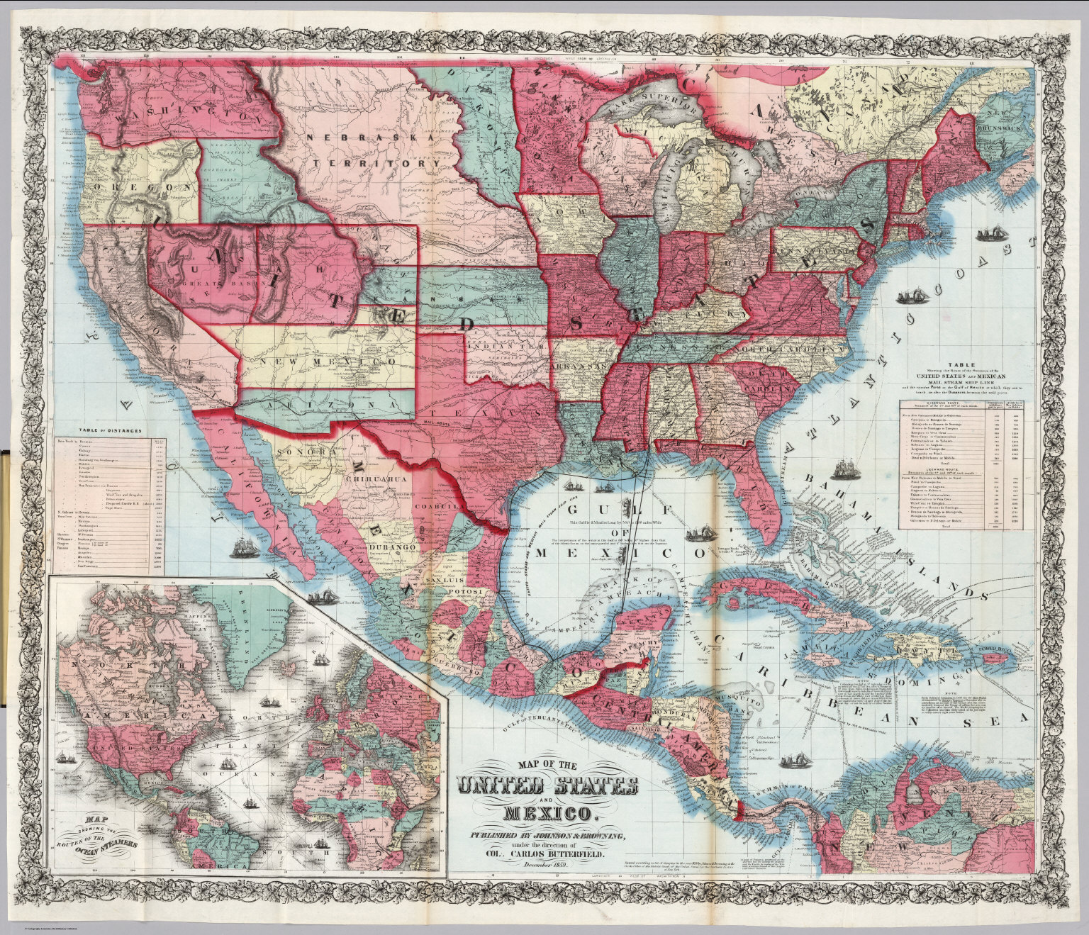 map of the united states and mexico