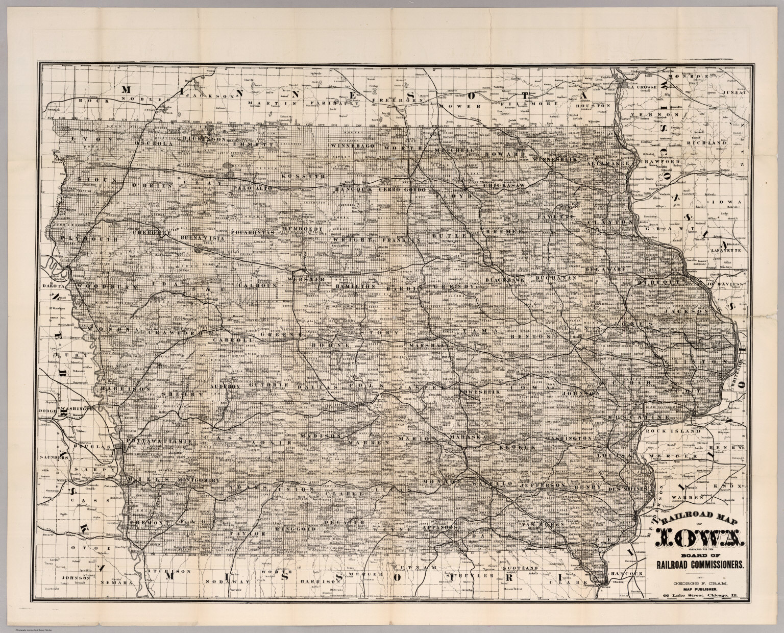 Railroad Map Of Iowa - David Rumsey Historical Map Collection