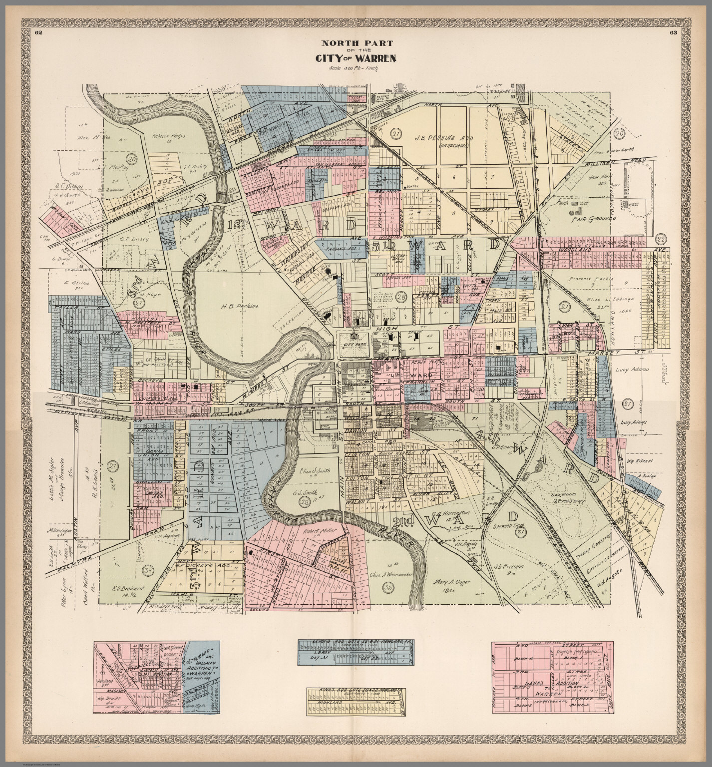Composite Map Warren Ohio David Rumsey Historical Map Collection