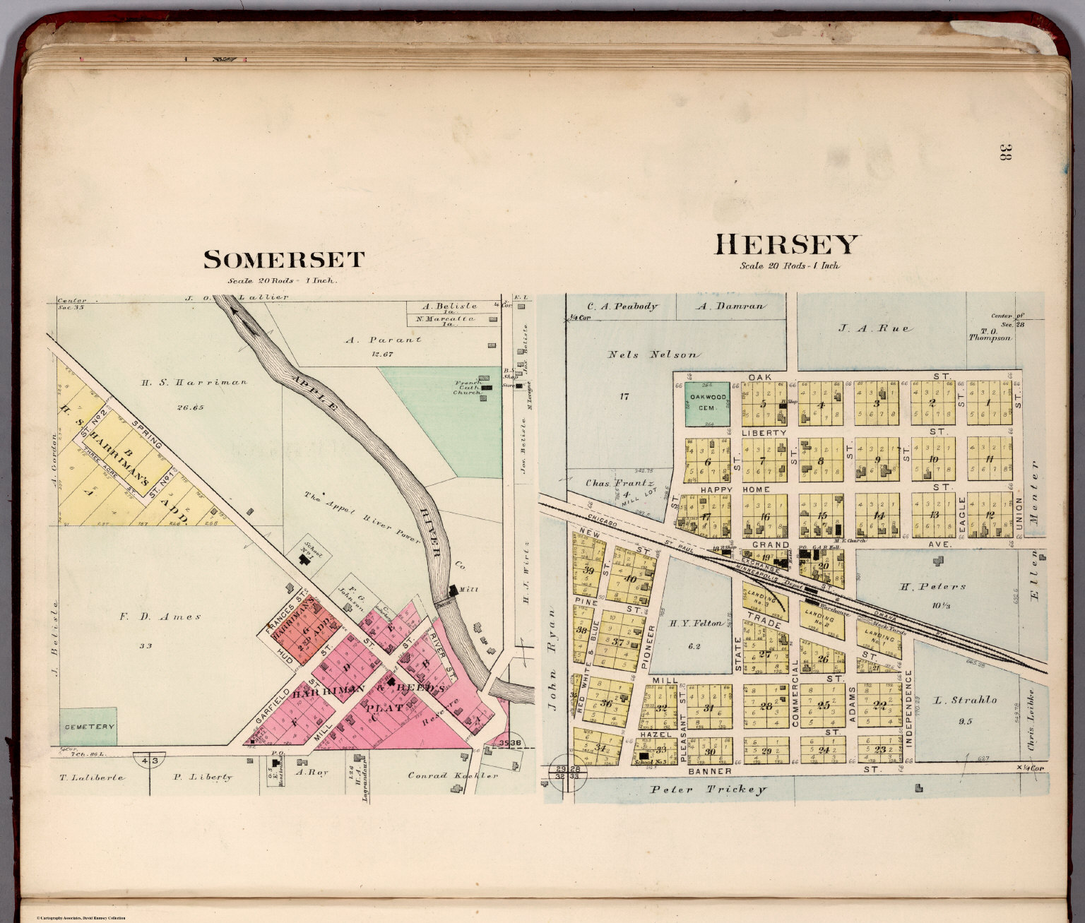 Somerset. Hersey, Wisconsin. - David Rumsey Historical Map Collection