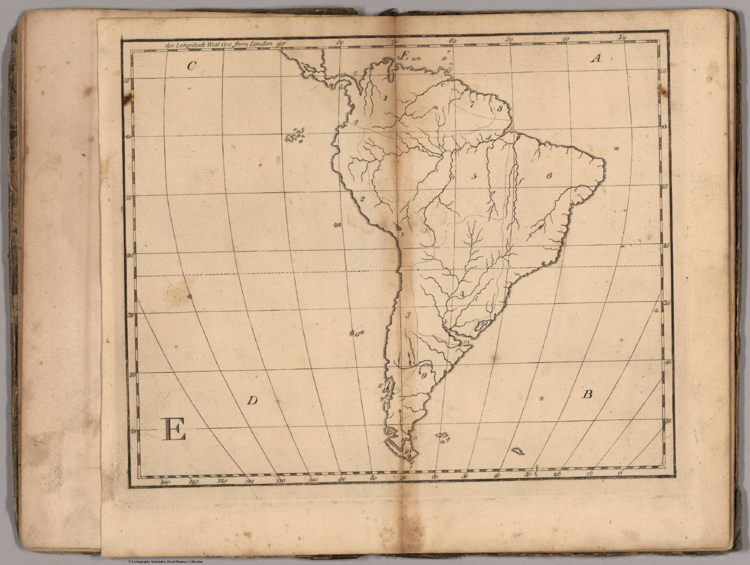 E Untitled outline map of South America David Rumsey Historical