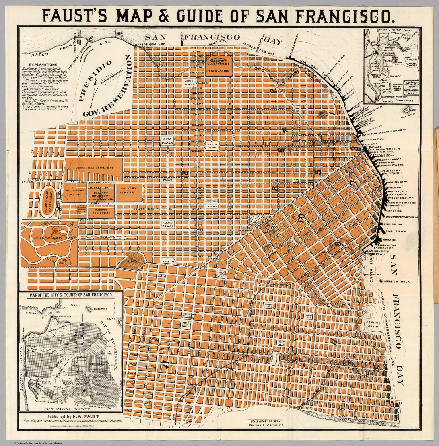 Fausts Map Guide Of San Francisco David Rumsey Historical Map