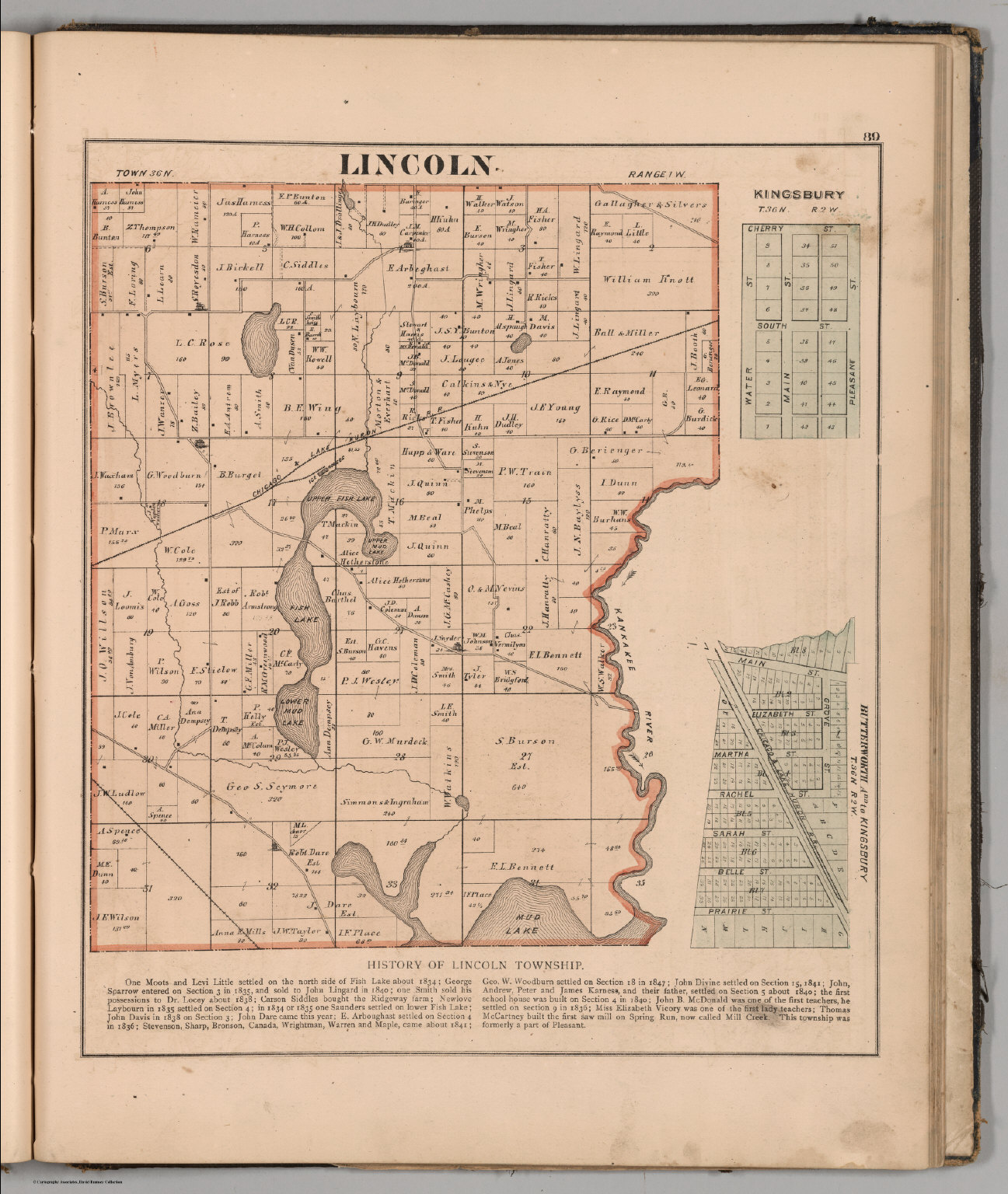 Lincoln Township Laporte County Indiana David Rumsey Historical