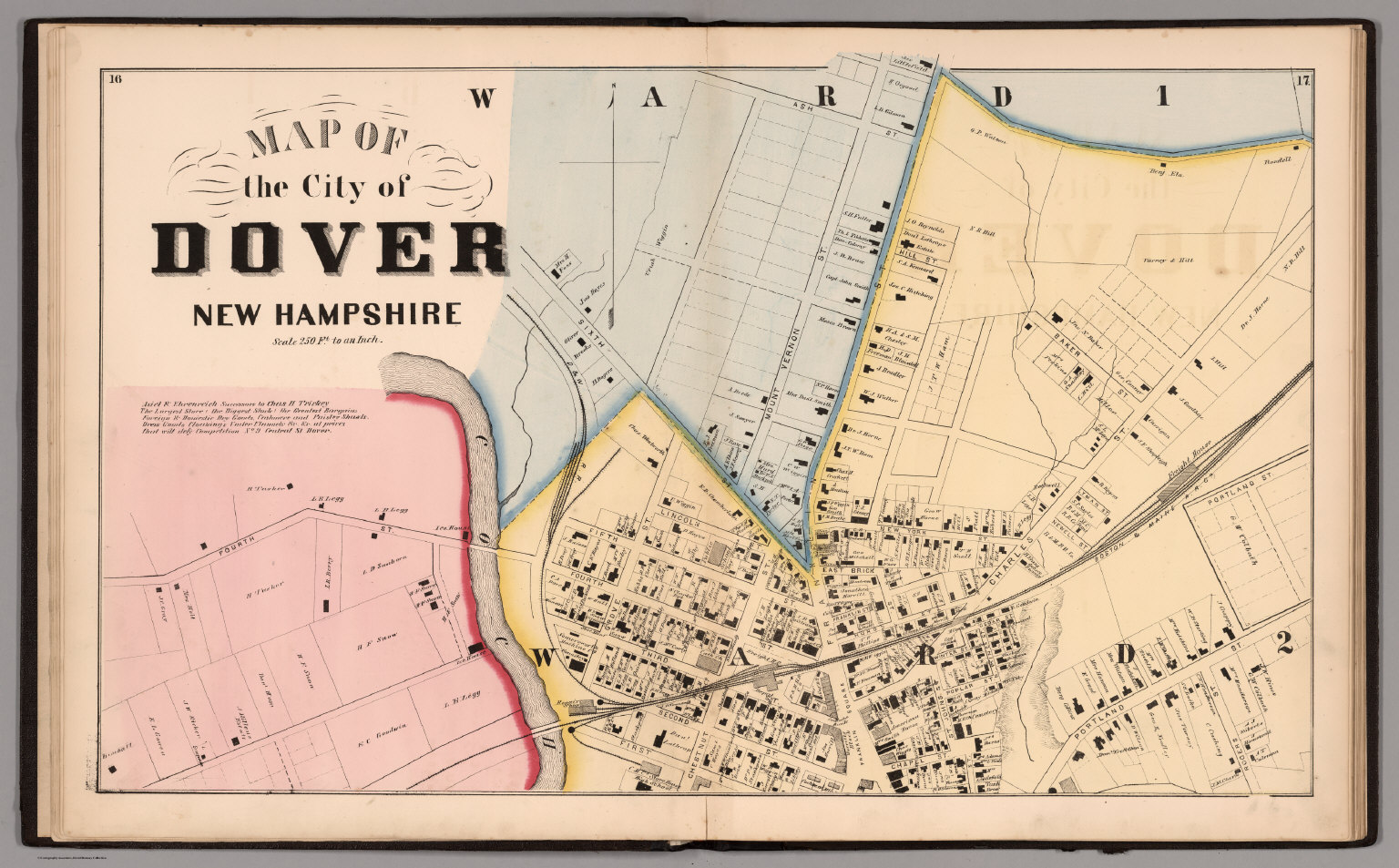 City of Dover Northern Sheet Strafford County New Hampshire