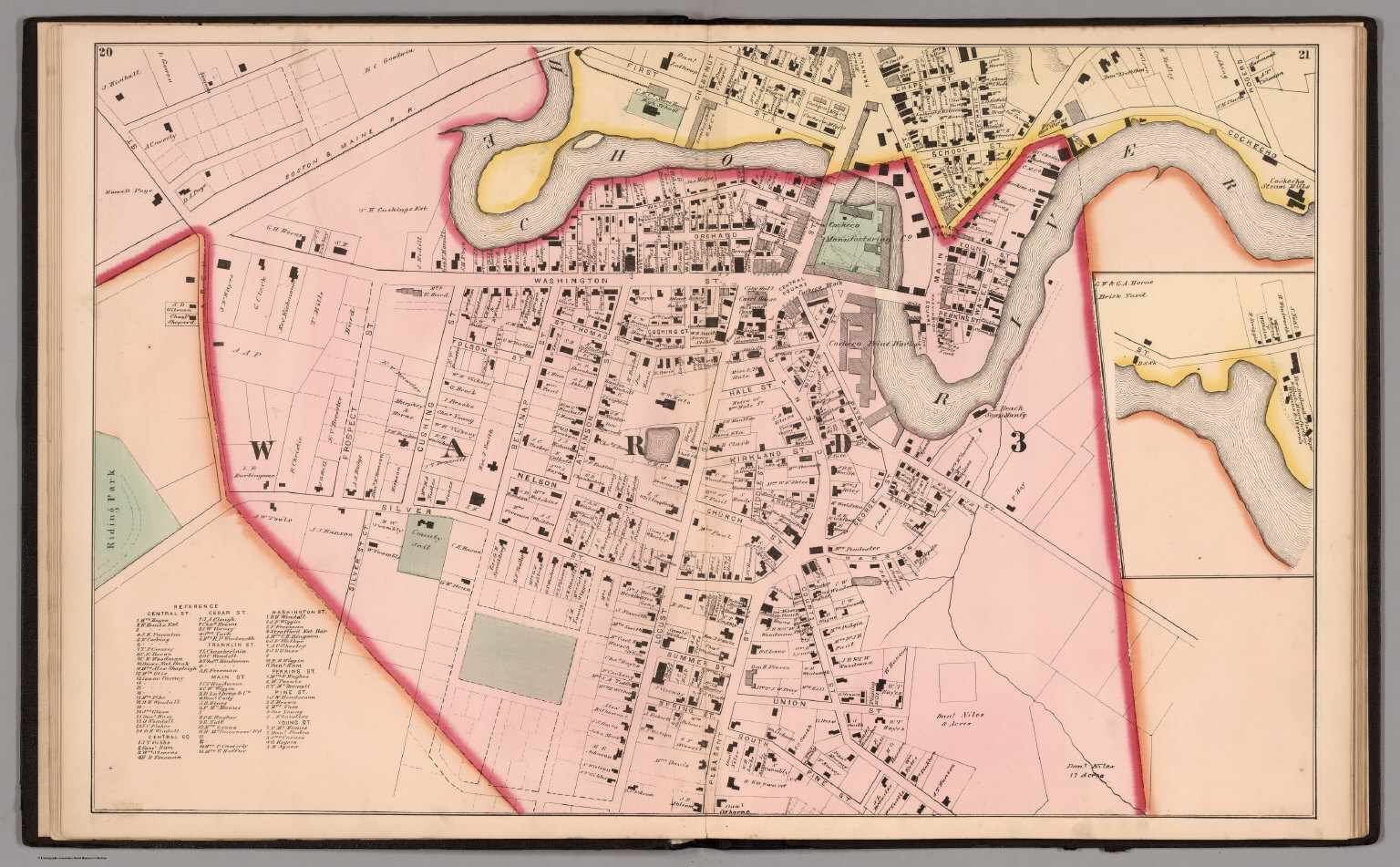 City of Dover Central Sheet Strafford County New Hampshire