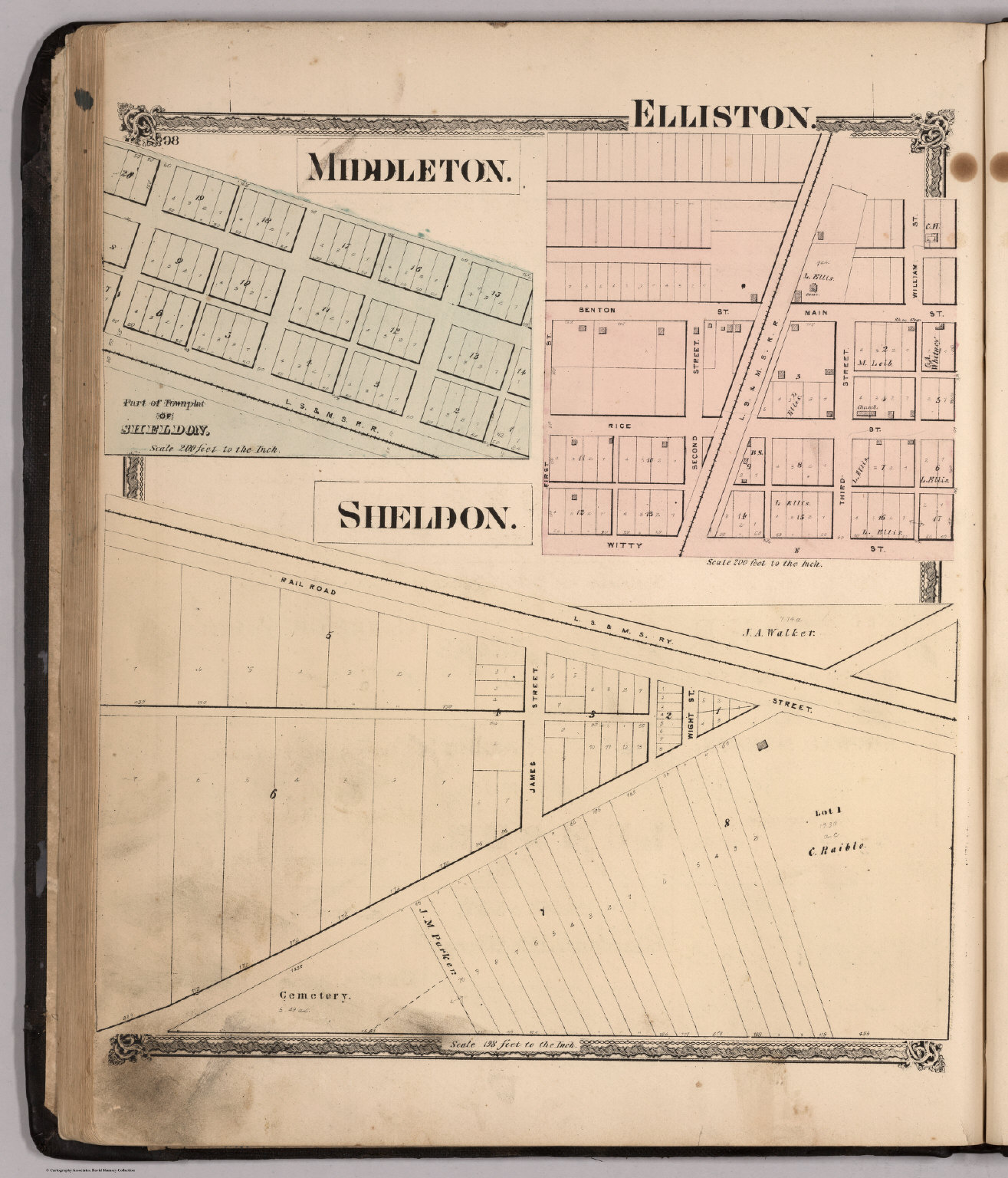 Middleton Elliston Sheldon Ohio David Rumsey Historical Map