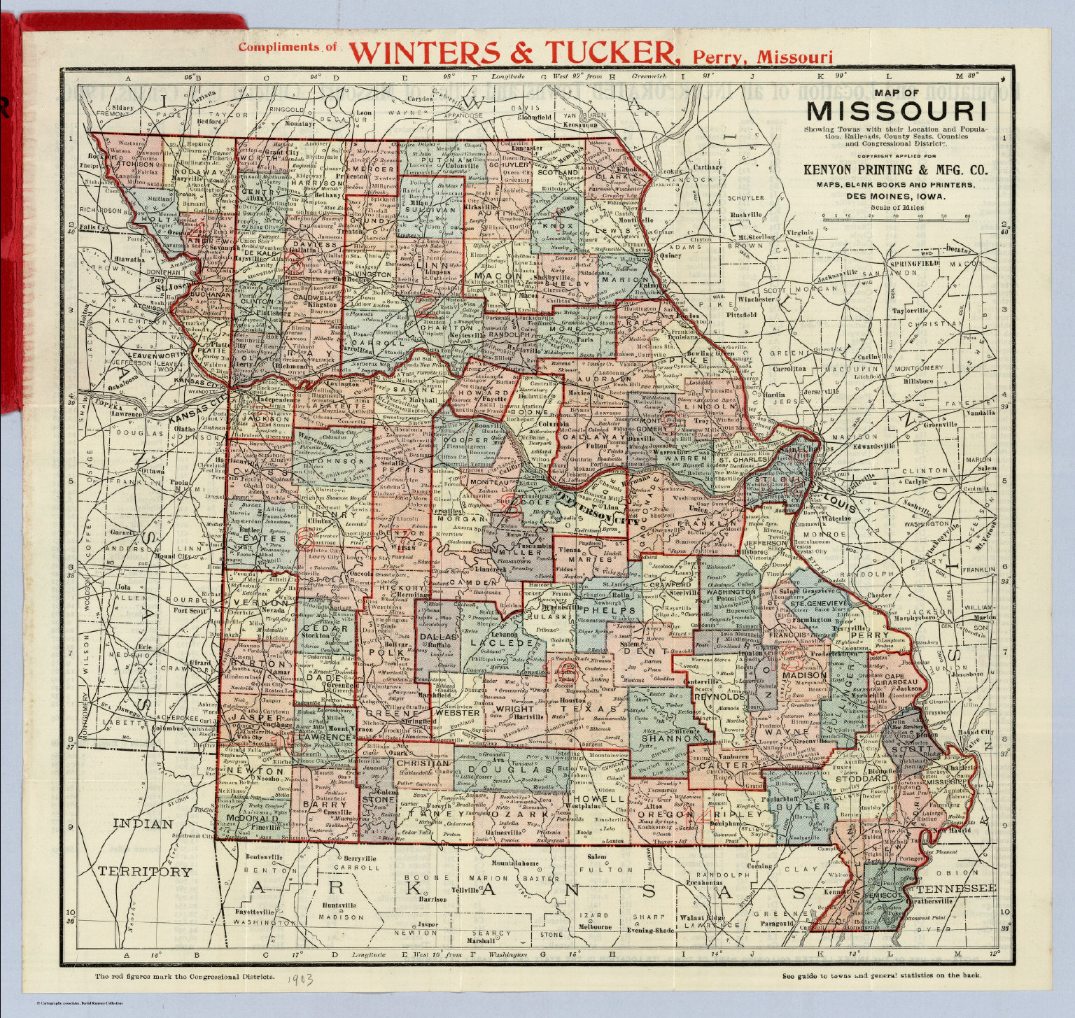 Map Of Missouri - David Rumsey Historical Map Collection