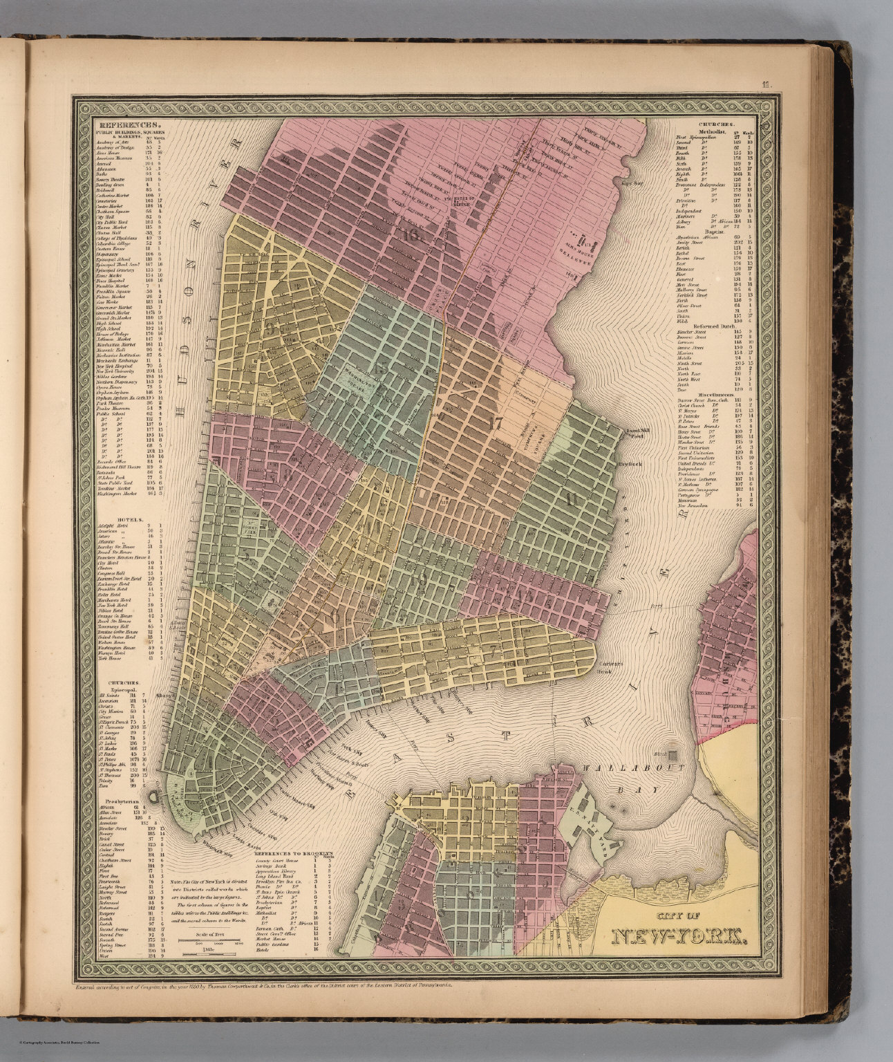 Map Of New York 1850.City Of New York David Rumsey Historical Map Collection