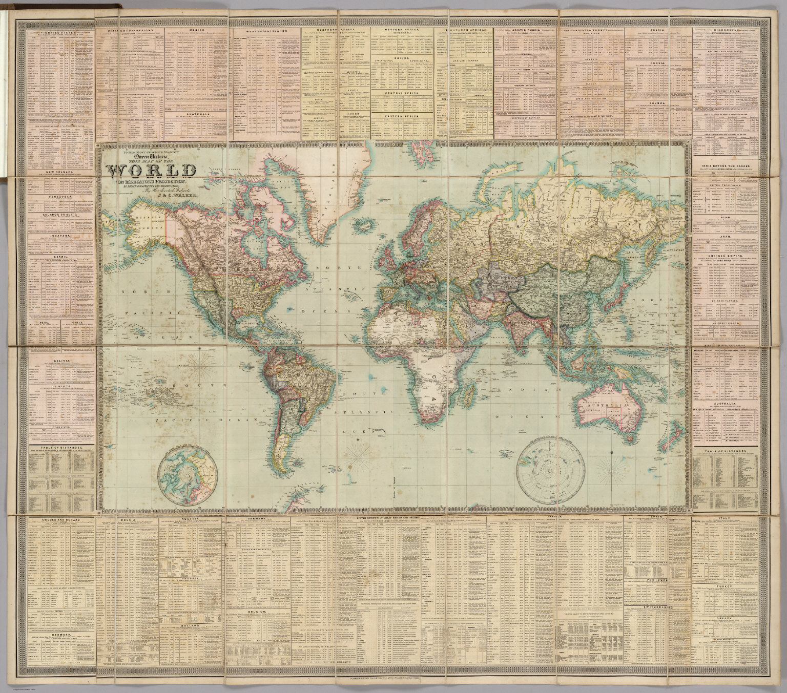 Map Of The World David Rumsey Historical Map Collection - Victorian world map