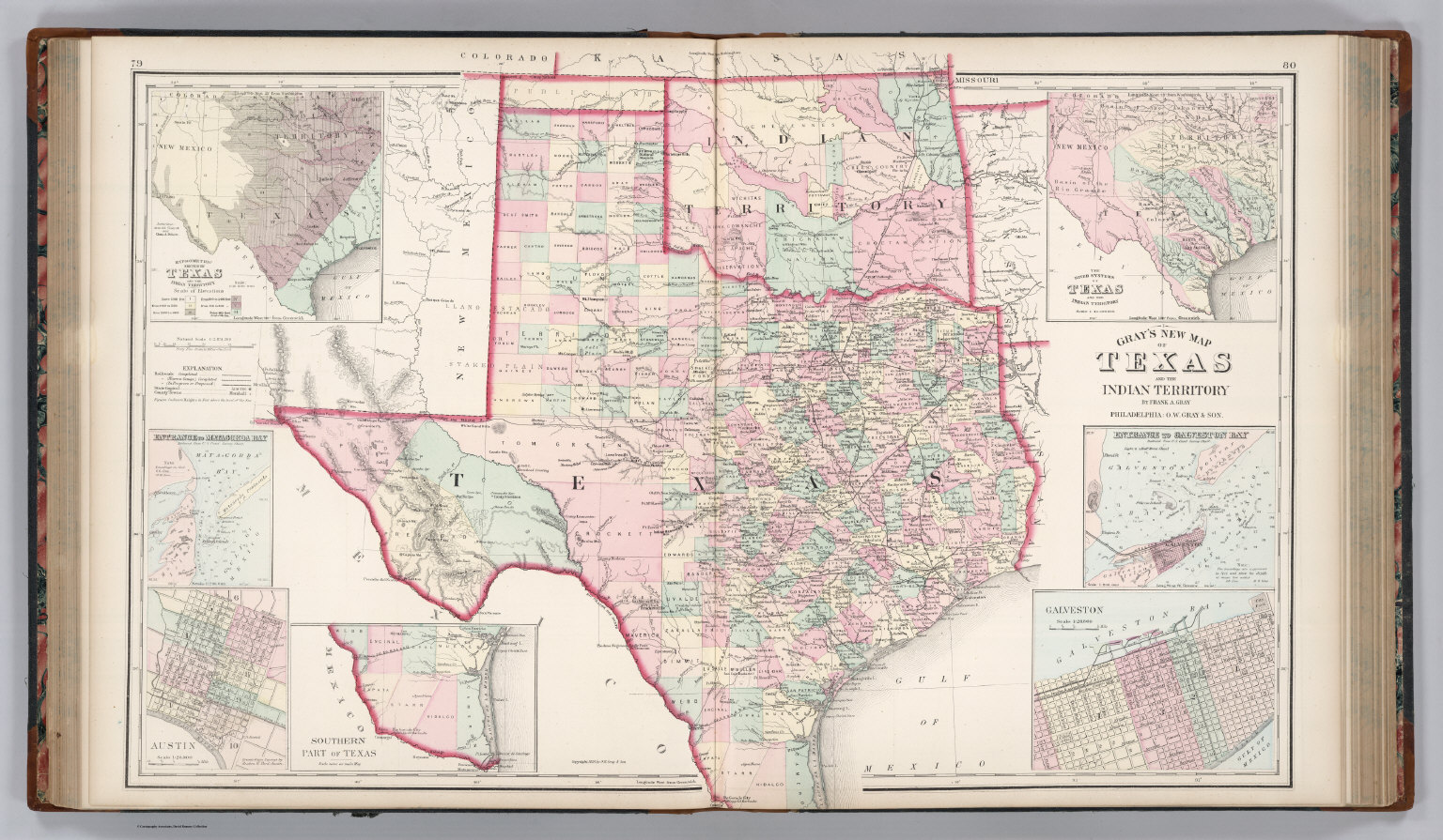 Texas and the Indian Territory (Oklahoma). - David Rumsey Historical ...