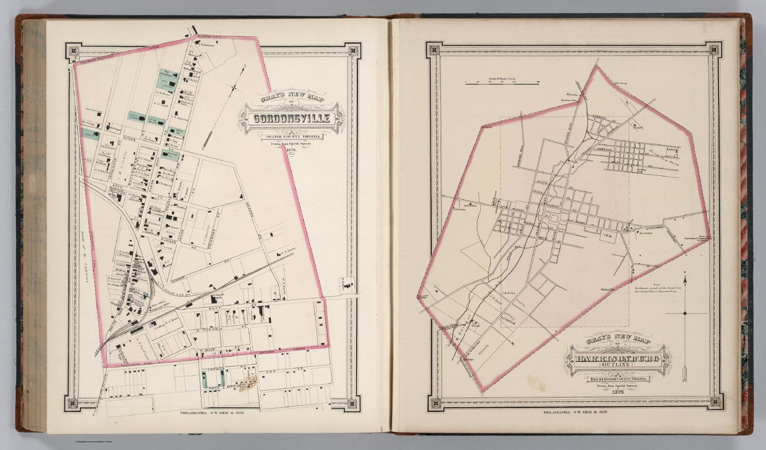 Gordonsville And Harrisonburg Virginia David Rumsey Historical