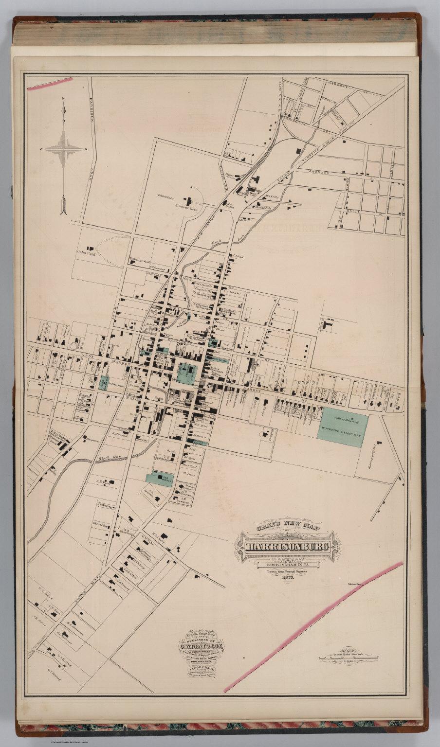 Harrisonburg Virginia David Rumsey Historical Map Collection