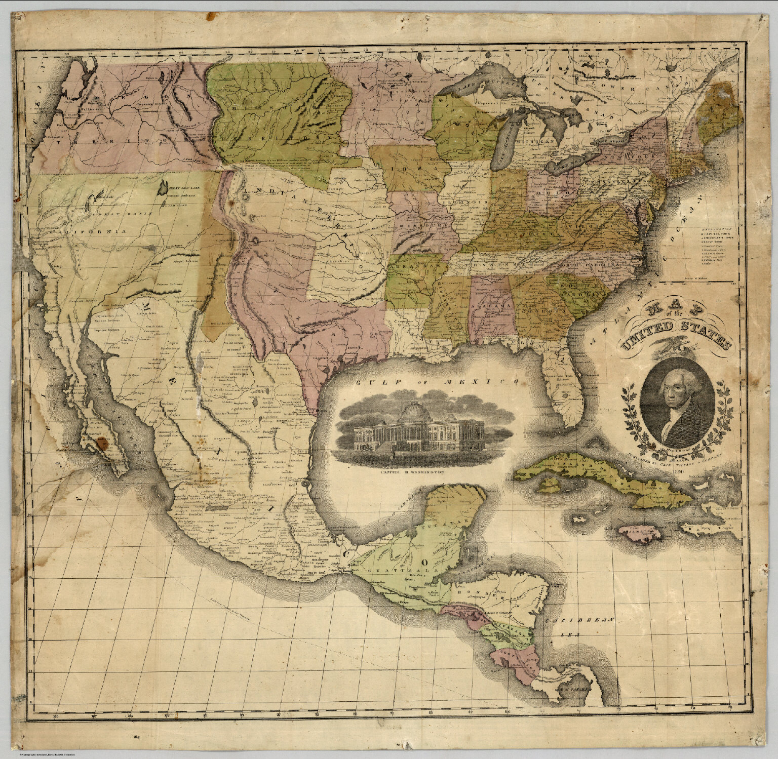 Map Of The United States 1850 David Rumsey Historical Map Collection